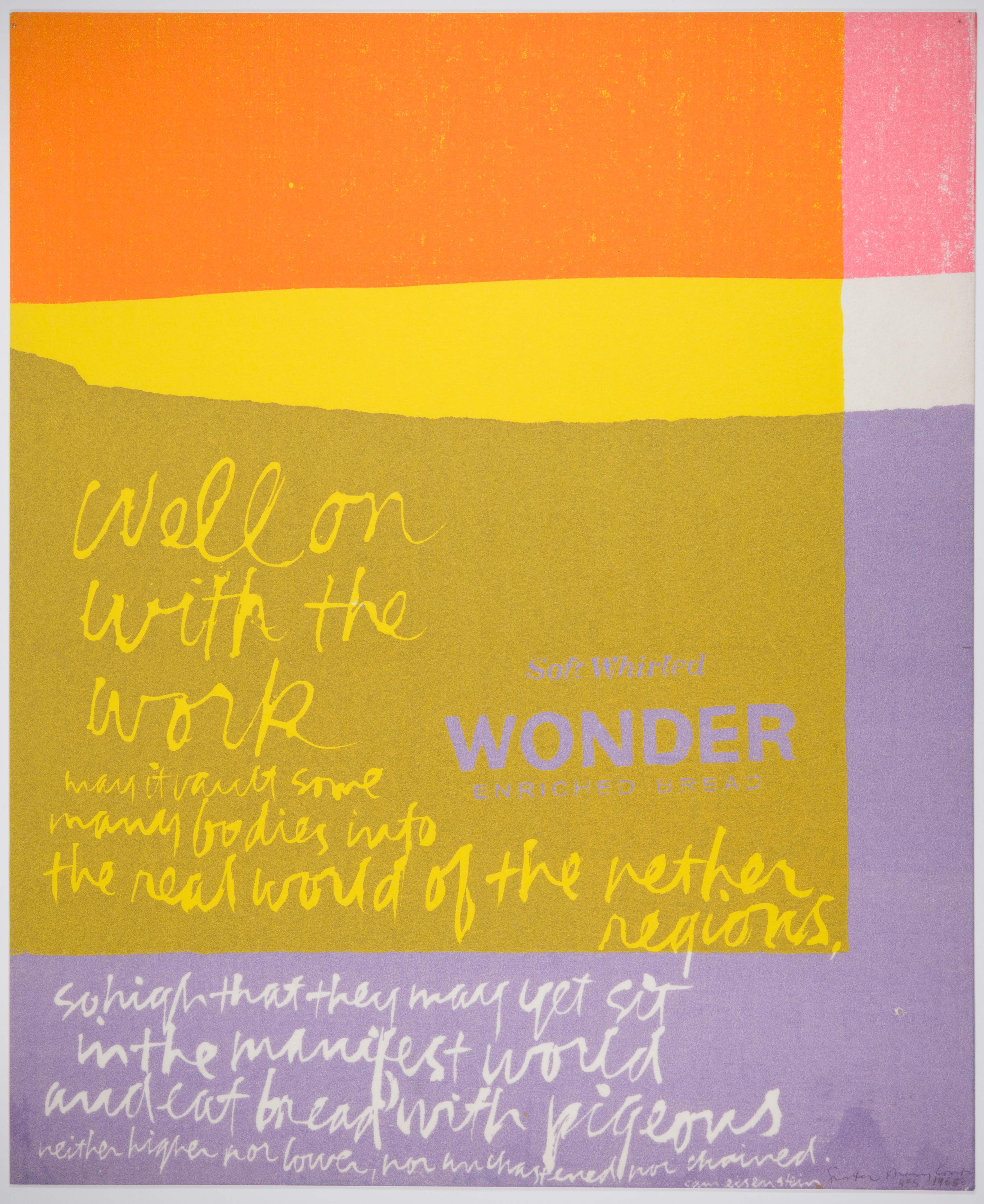 Corita Kent, well, on with the work, 1965