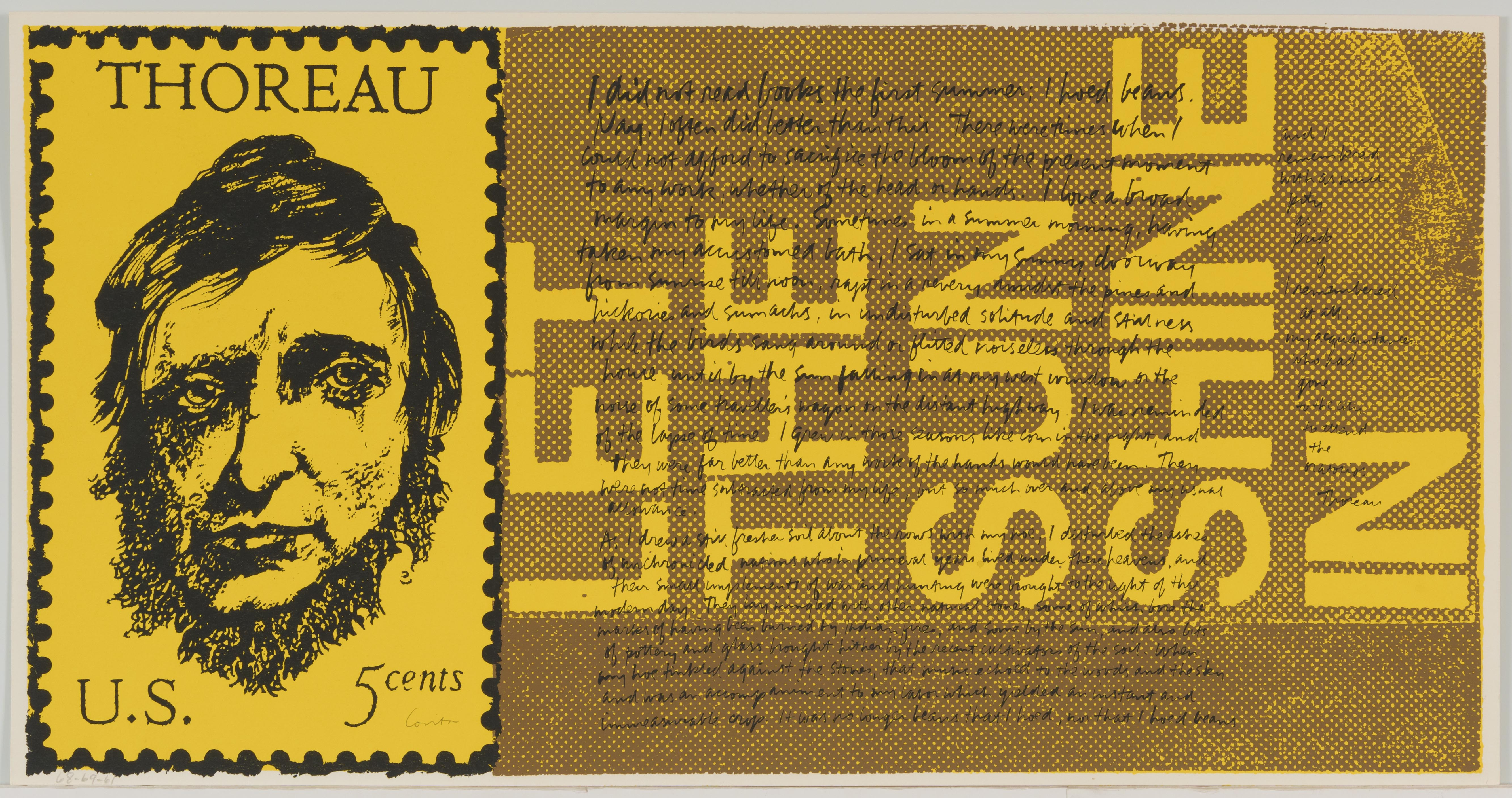 Corita Kent, the stamp of thoreau, 1969