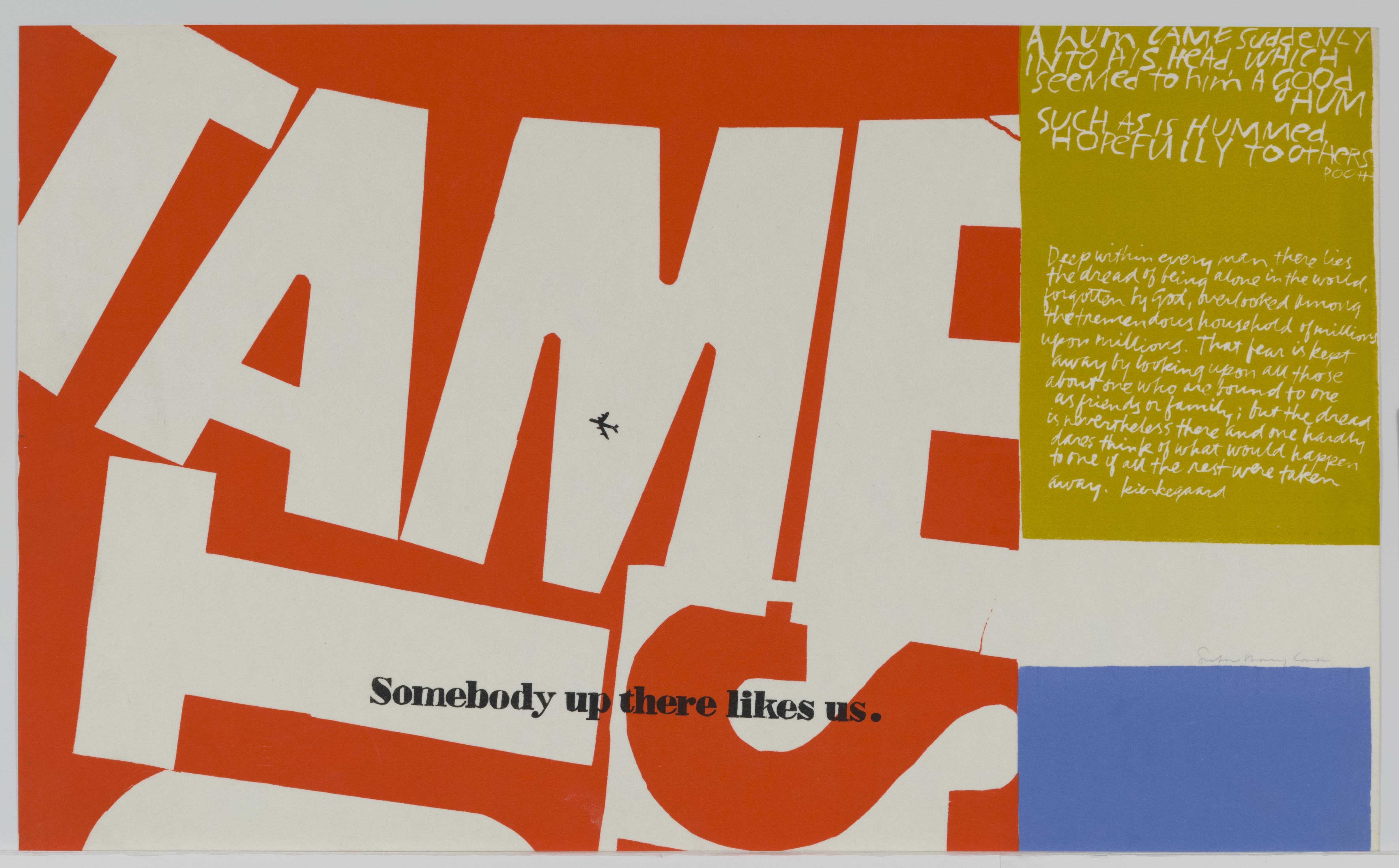 Corita Kent, (tame) hummed hopefully to others, 1966