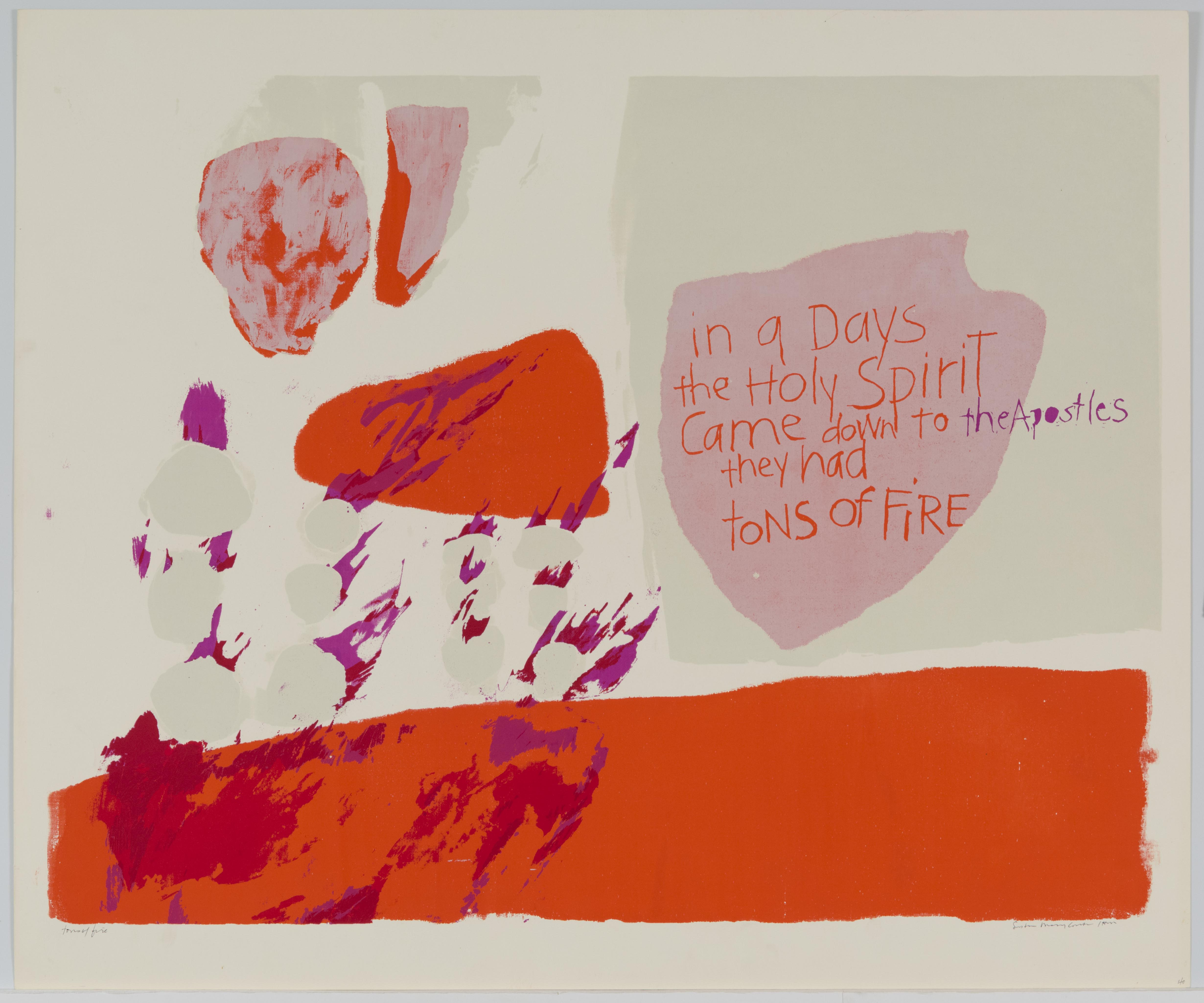 Corita Kent, tons of fire, 1962