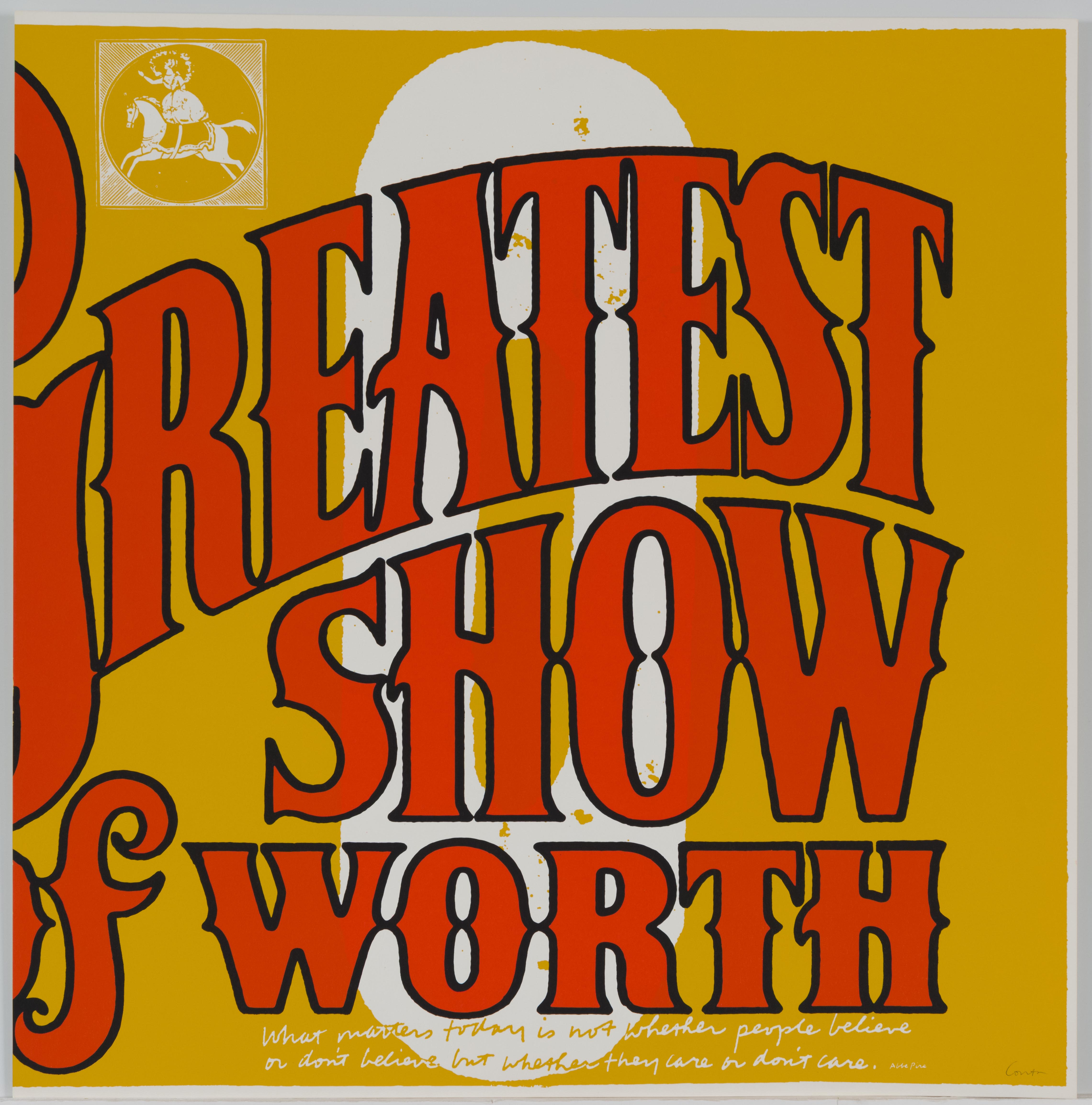 Corita Kent, o  greatest show of worth, 1968