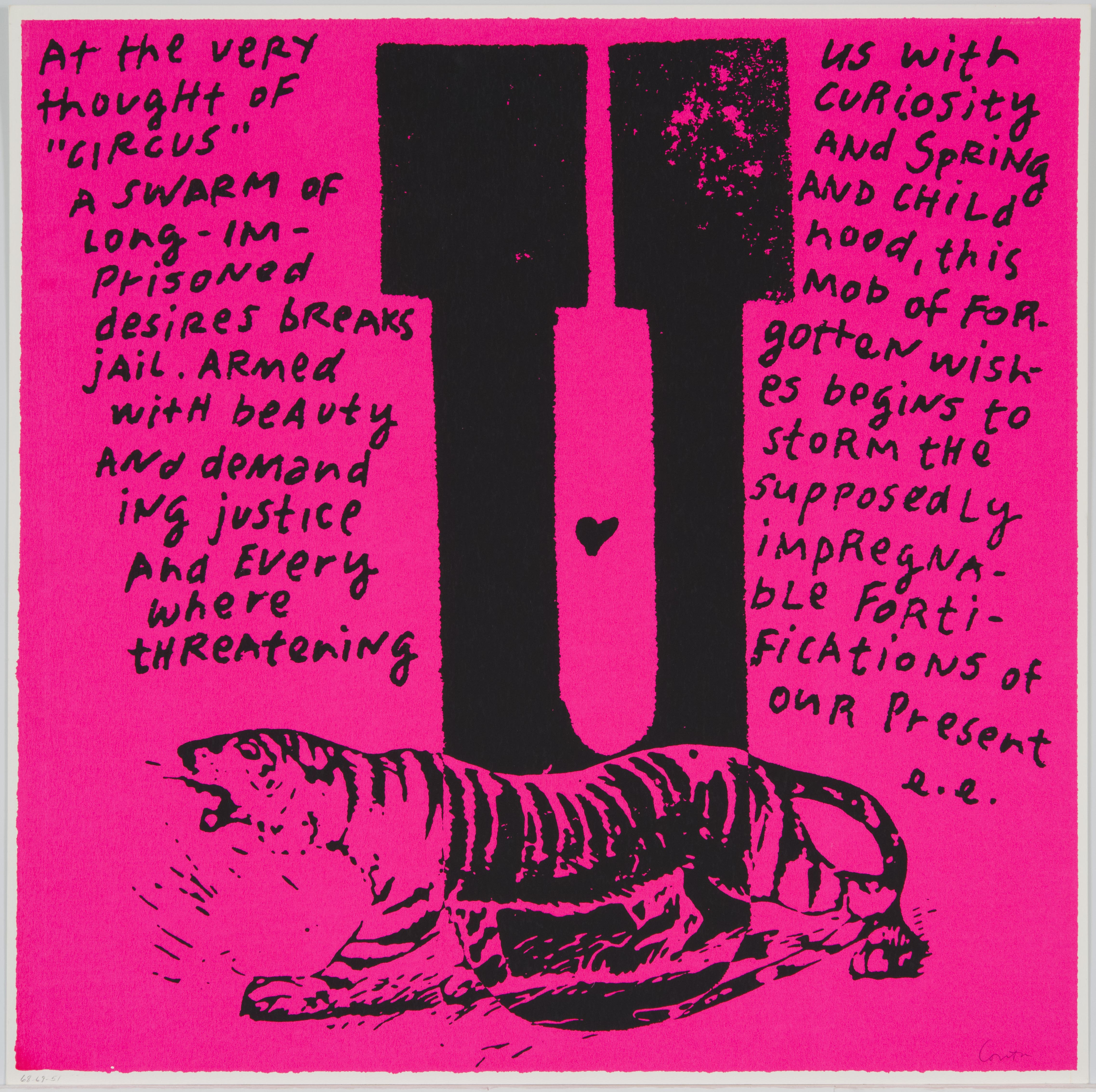 Corita Kent, u  u are a tiger, 1968