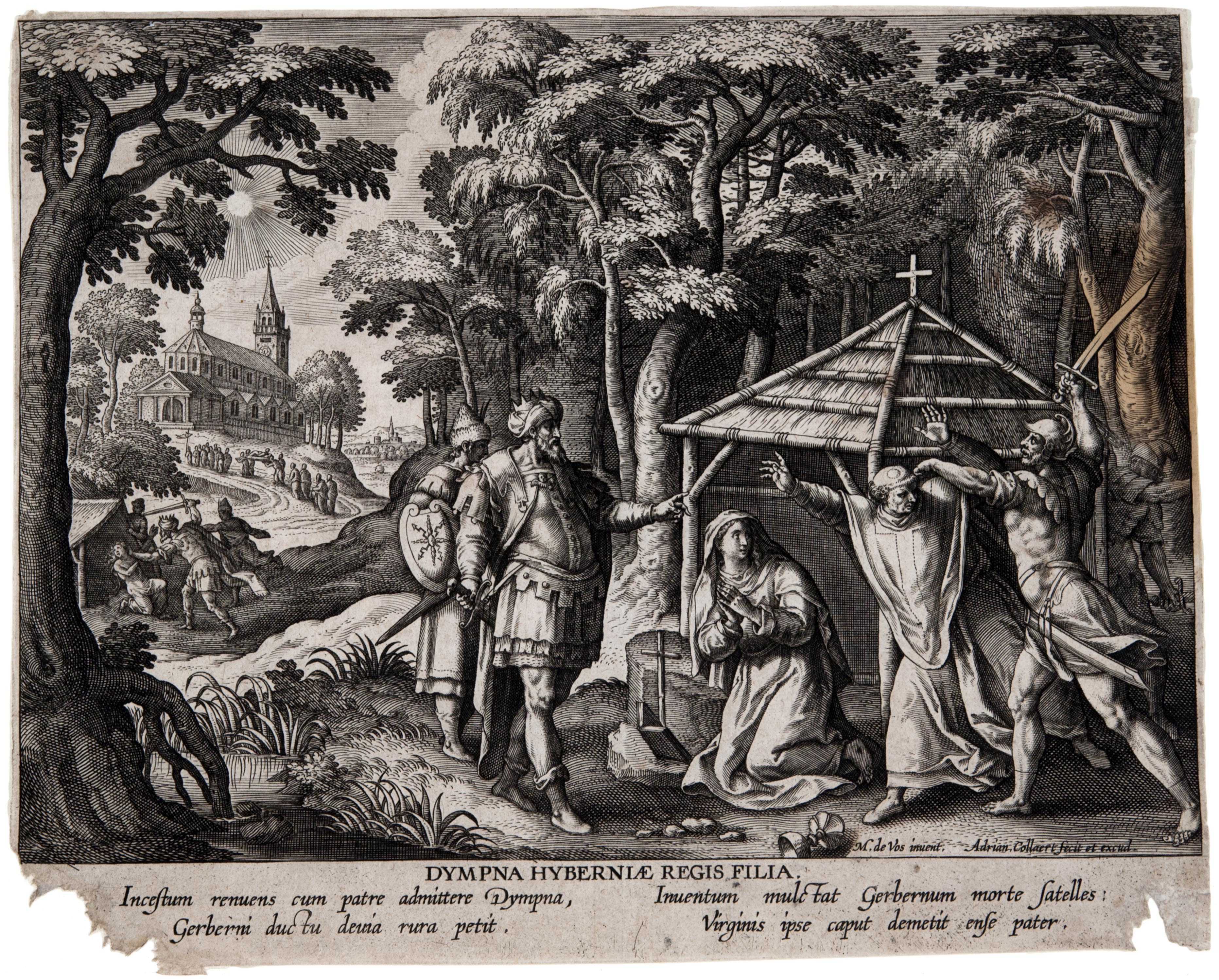 Martin de Vos, Female Hermits in Landscapes: Dympna of Gheel, ca. 1580