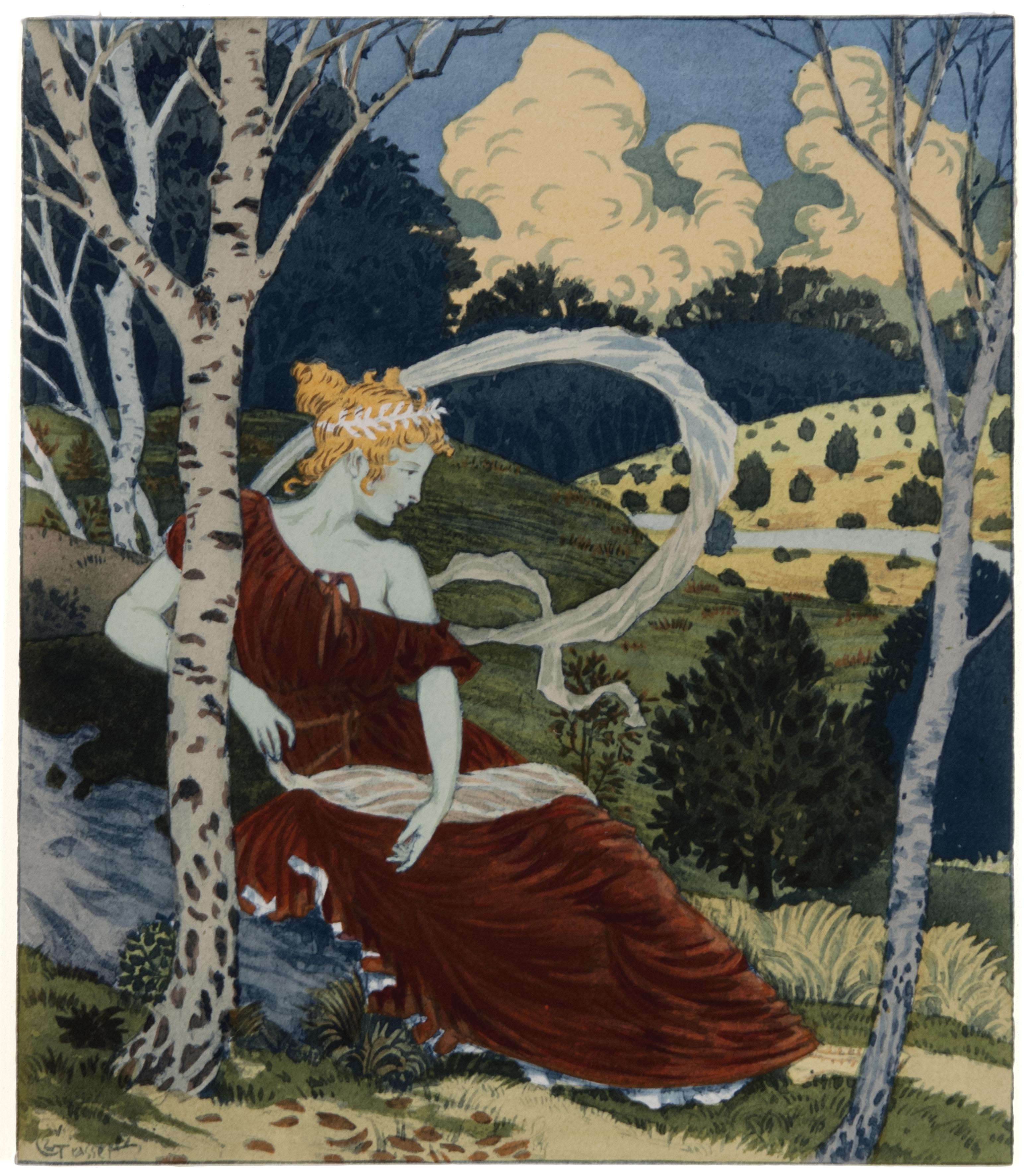Eugène Grasset, In the Forest, 1898-1899