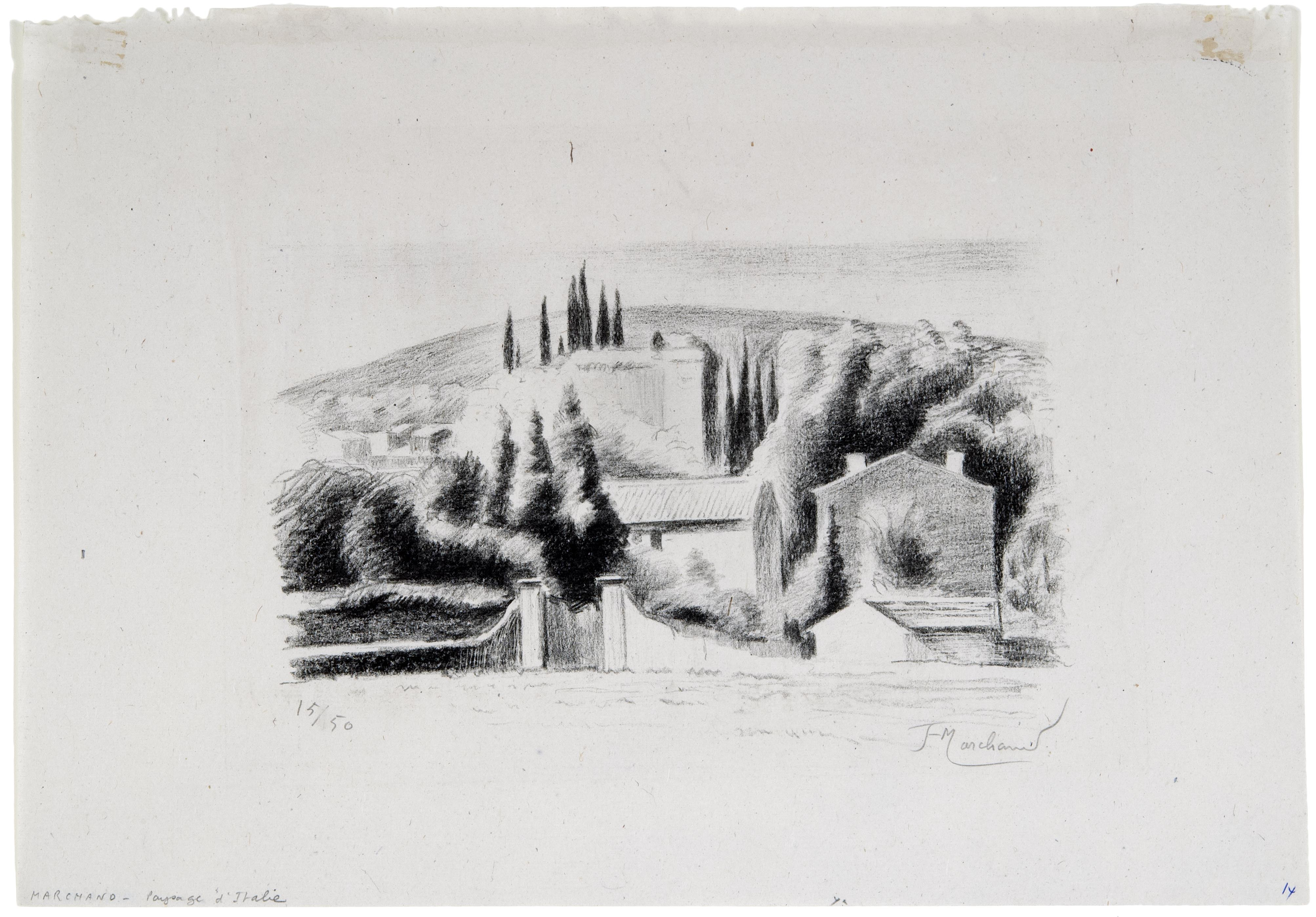 Jean Hippolyte Marchand, Paysage d'Italie, n.d.