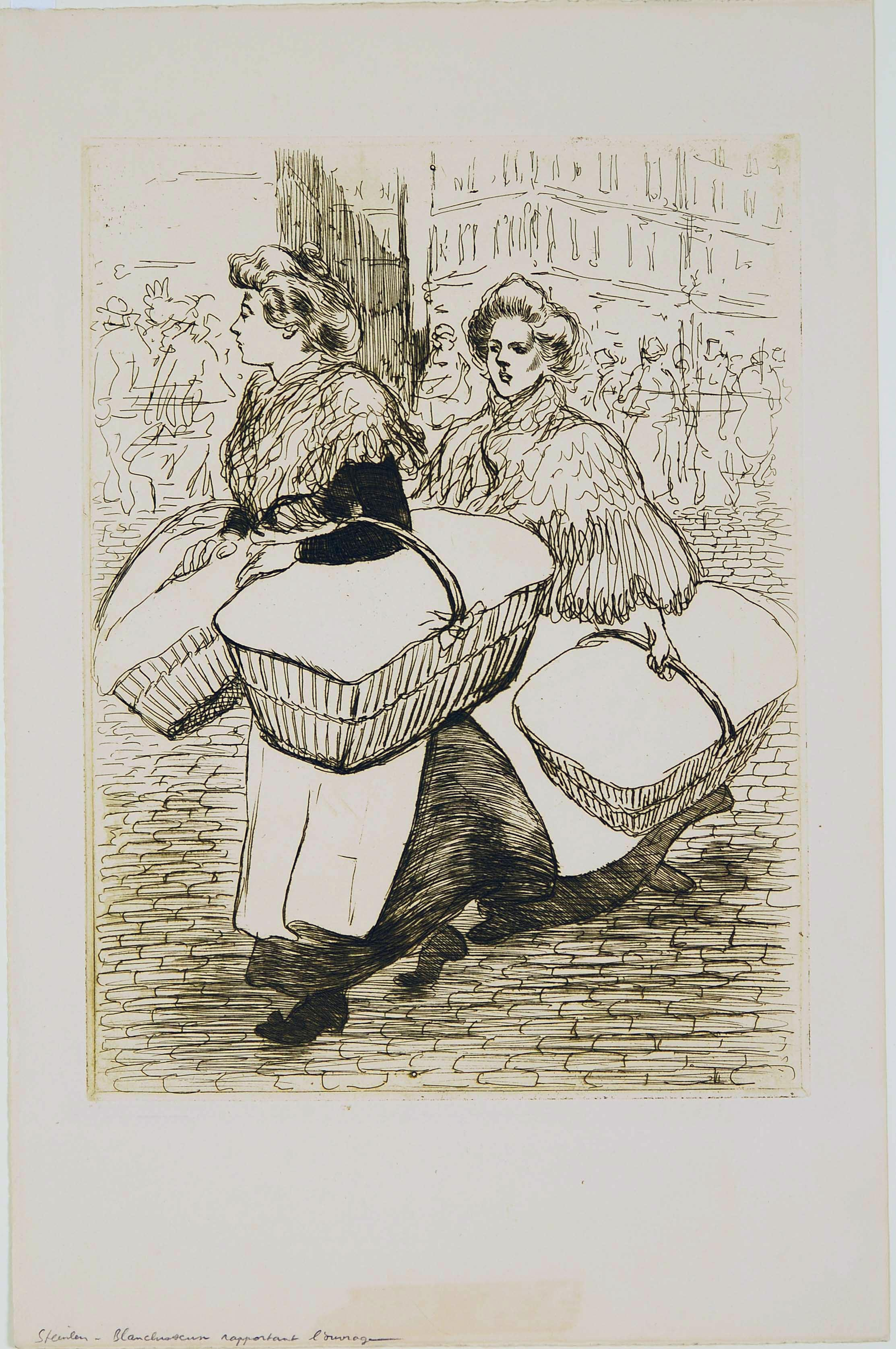 Théophile Alexandre Steinlen, Laundresses Carrying Back their Work, May 1898