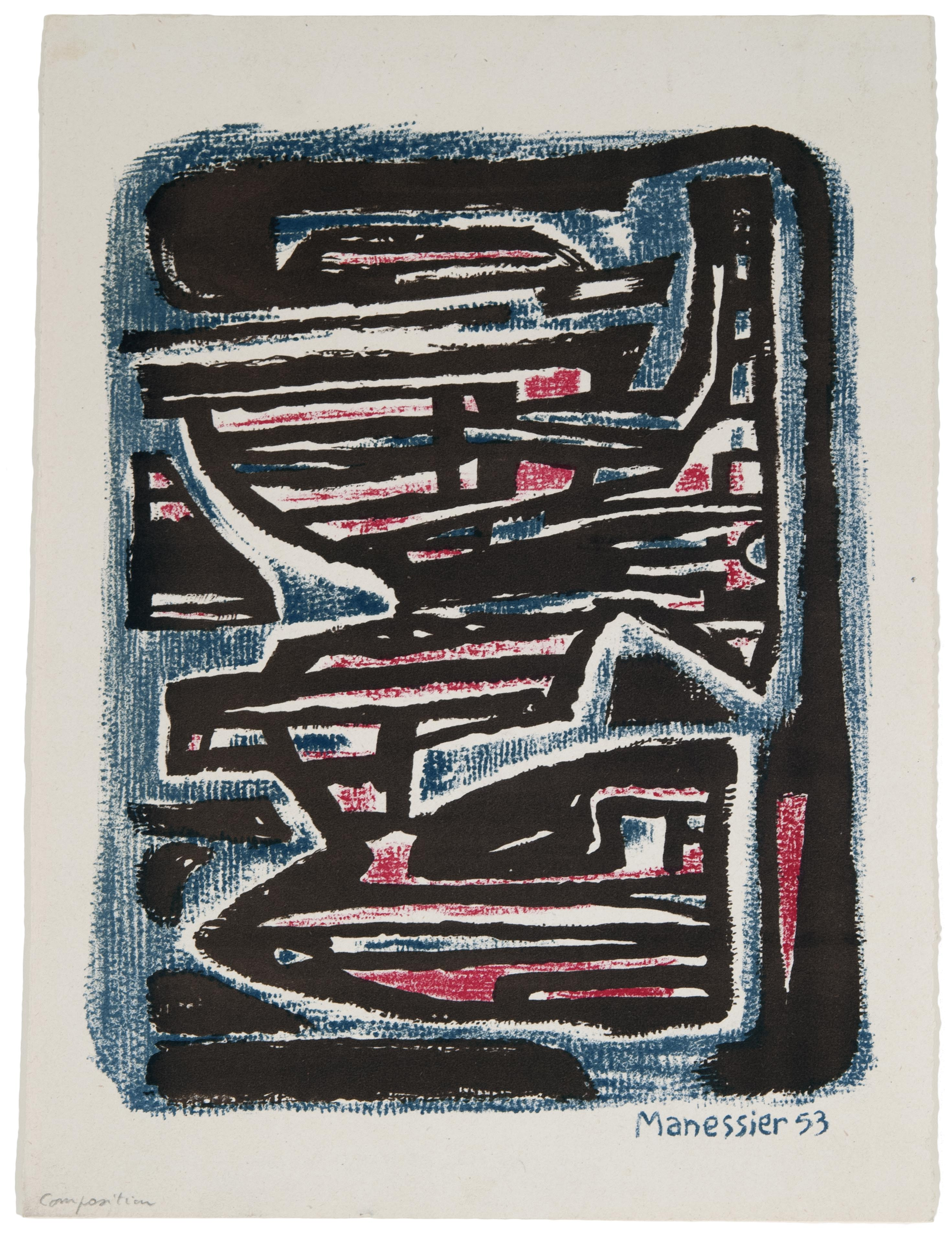 Alfred Manessier, Compositon, 1953