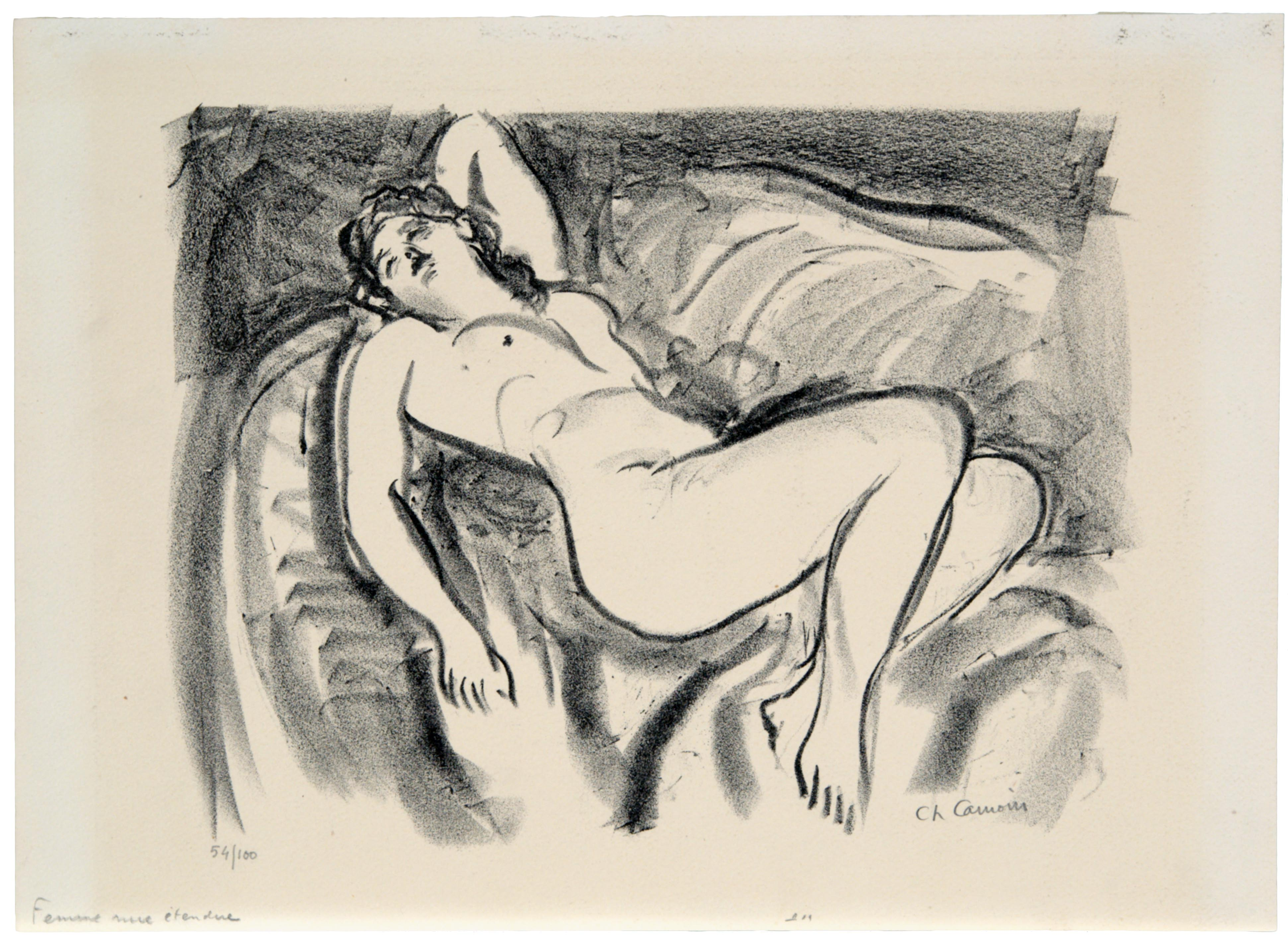 Charles Camoin, Naked Woman Lying, 1946