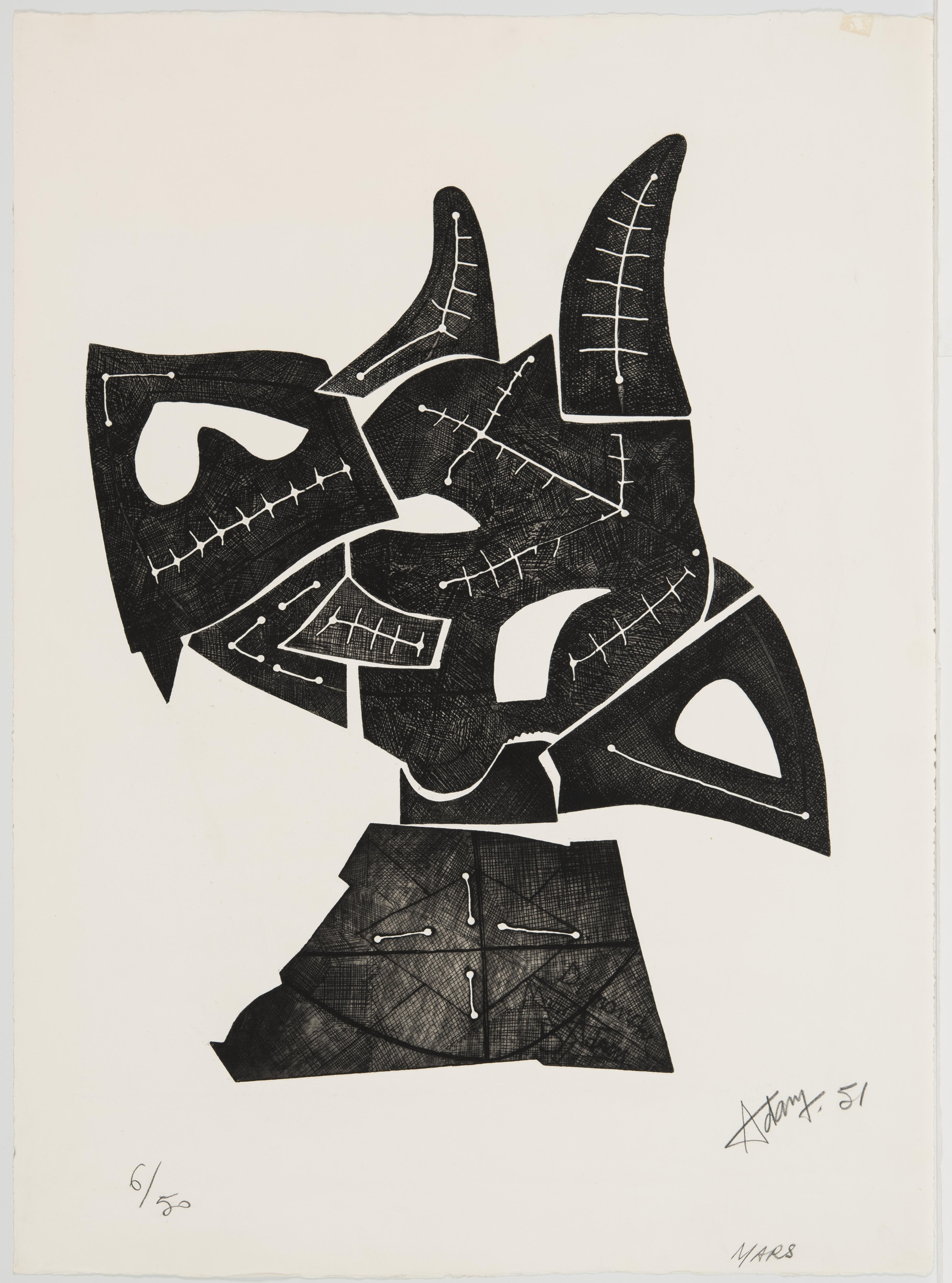 Henri Georges Adam, March or Horned Beast, 1951