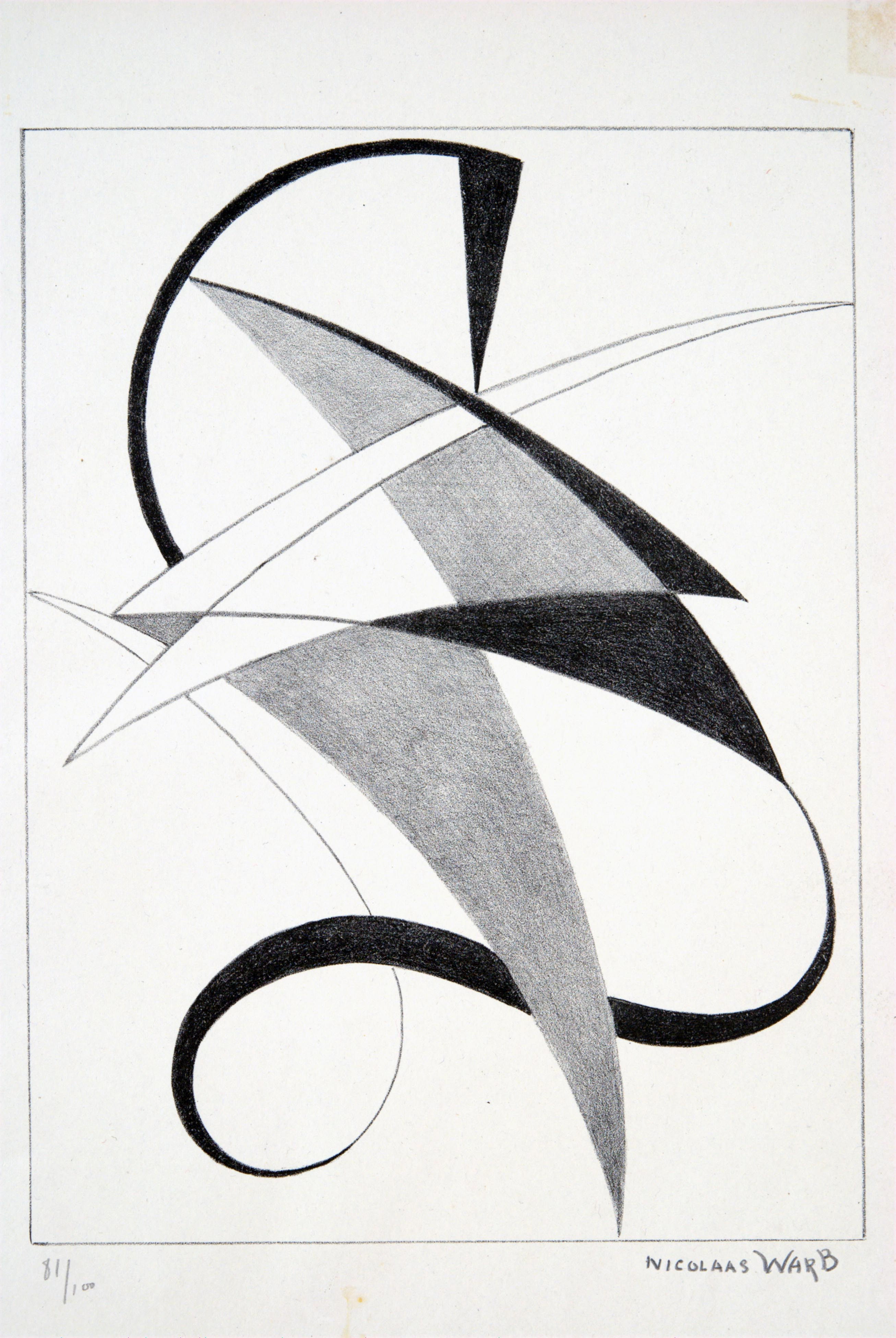 Nicolaas Warb, Abstract Composition, 1946