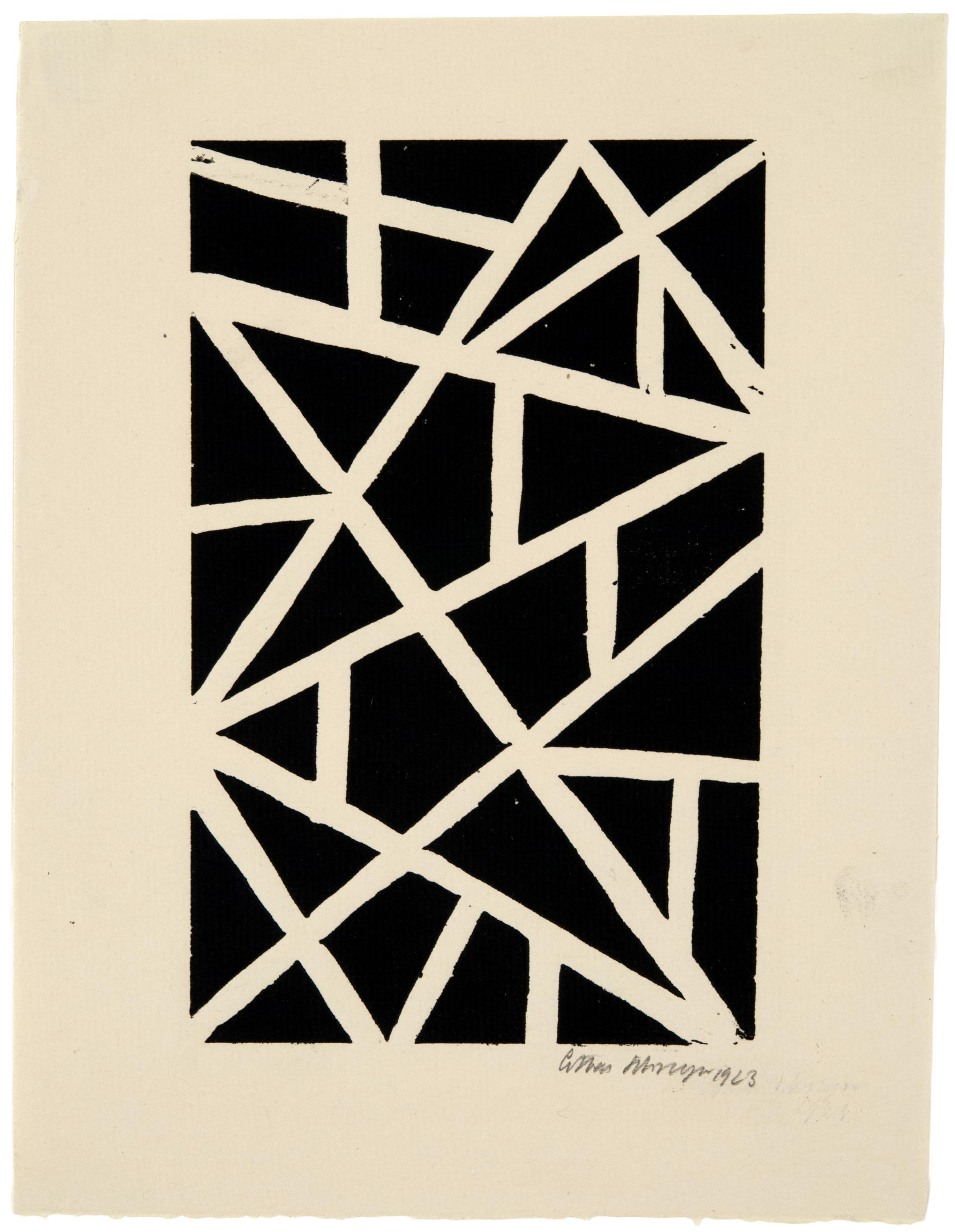 Lothar Schreyer, Abstract Composition, 1923