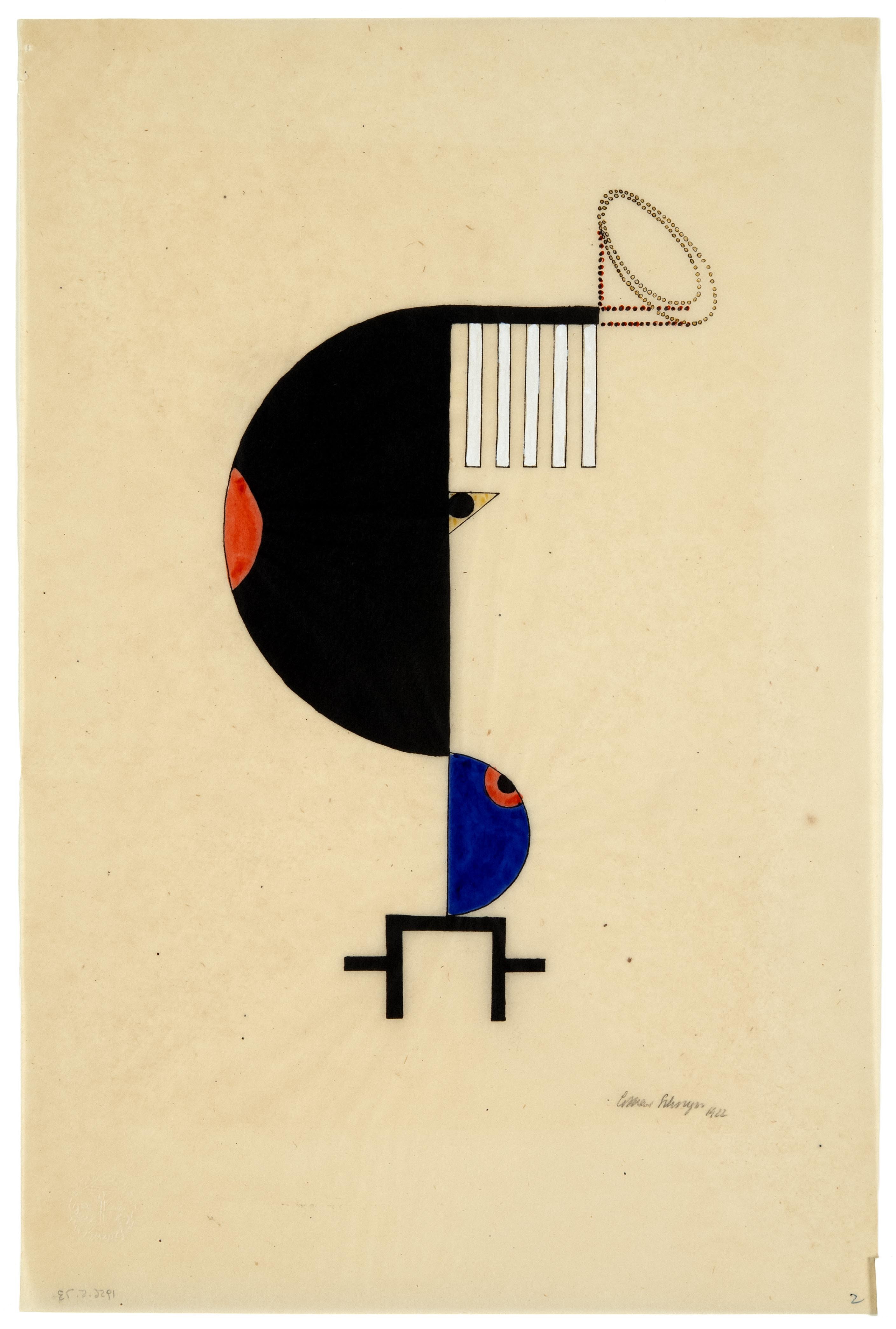 Lothar Schreyer, Color Form 2 (The Night)/ Farbform 2 (Die Nacht), Plate 14, 1922