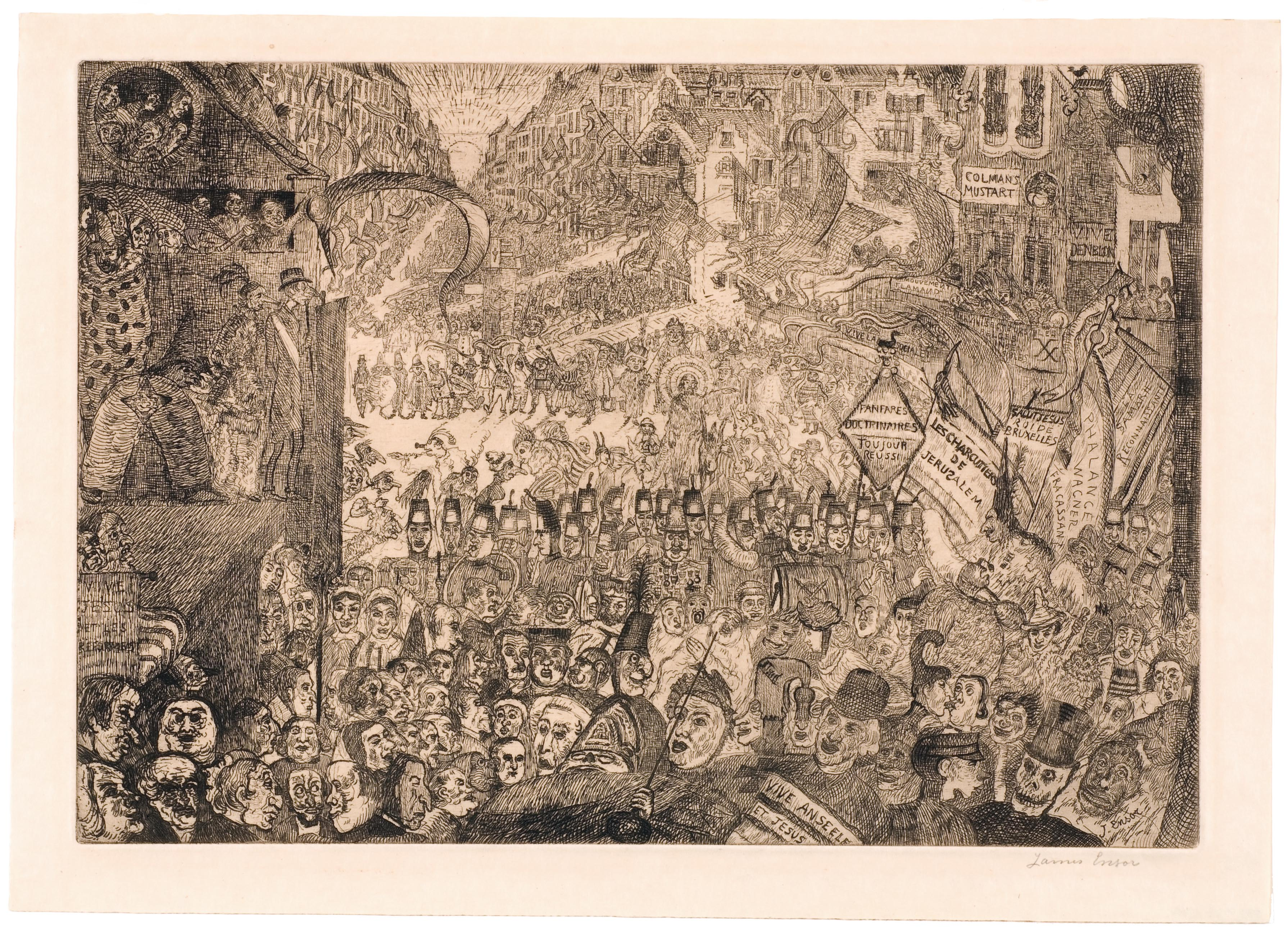 James Ensor, The Entry of Christ into Brussels on Mardi Gras in 1889, 1898