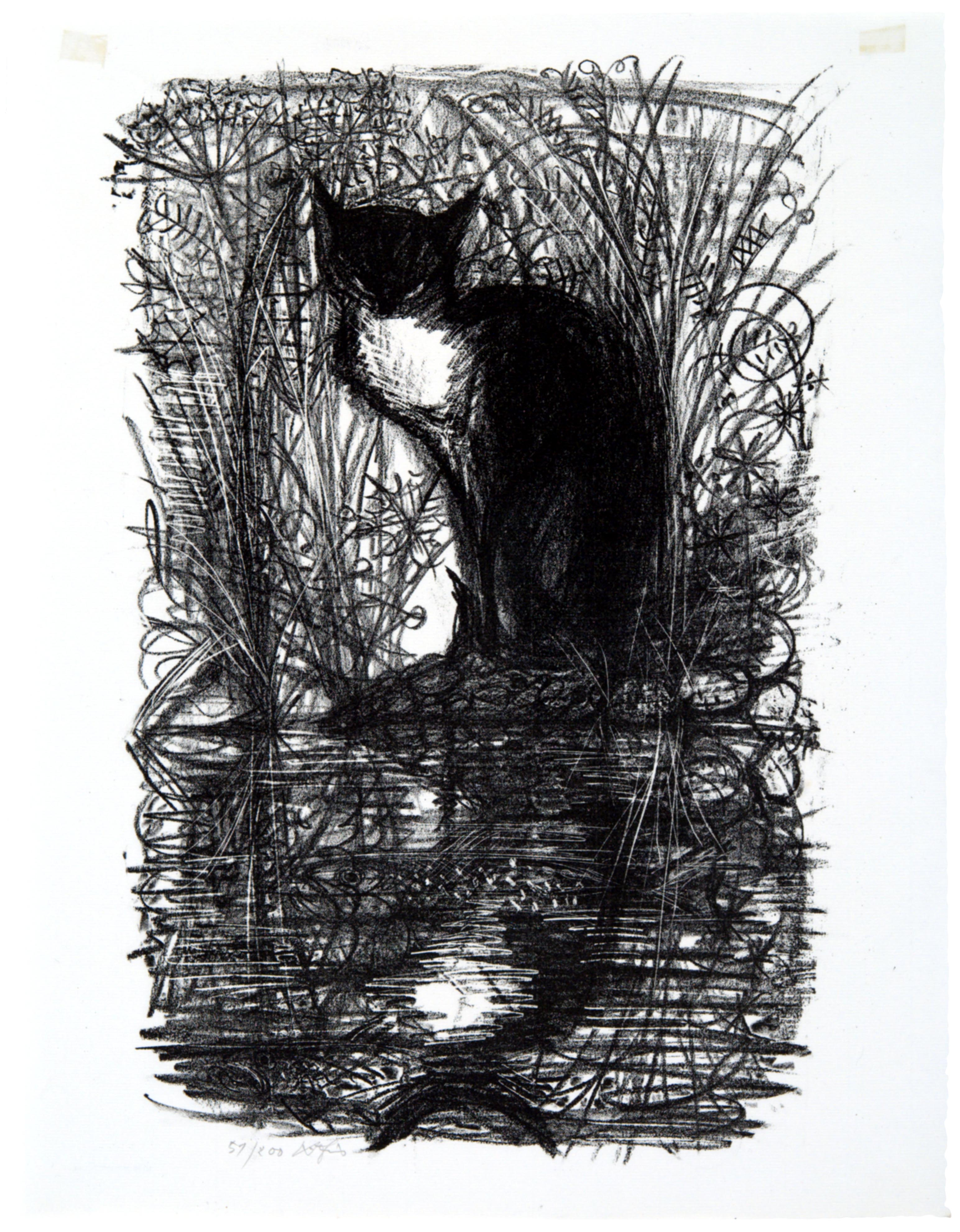Hans Fischer, The Fishing Cat, n.d.