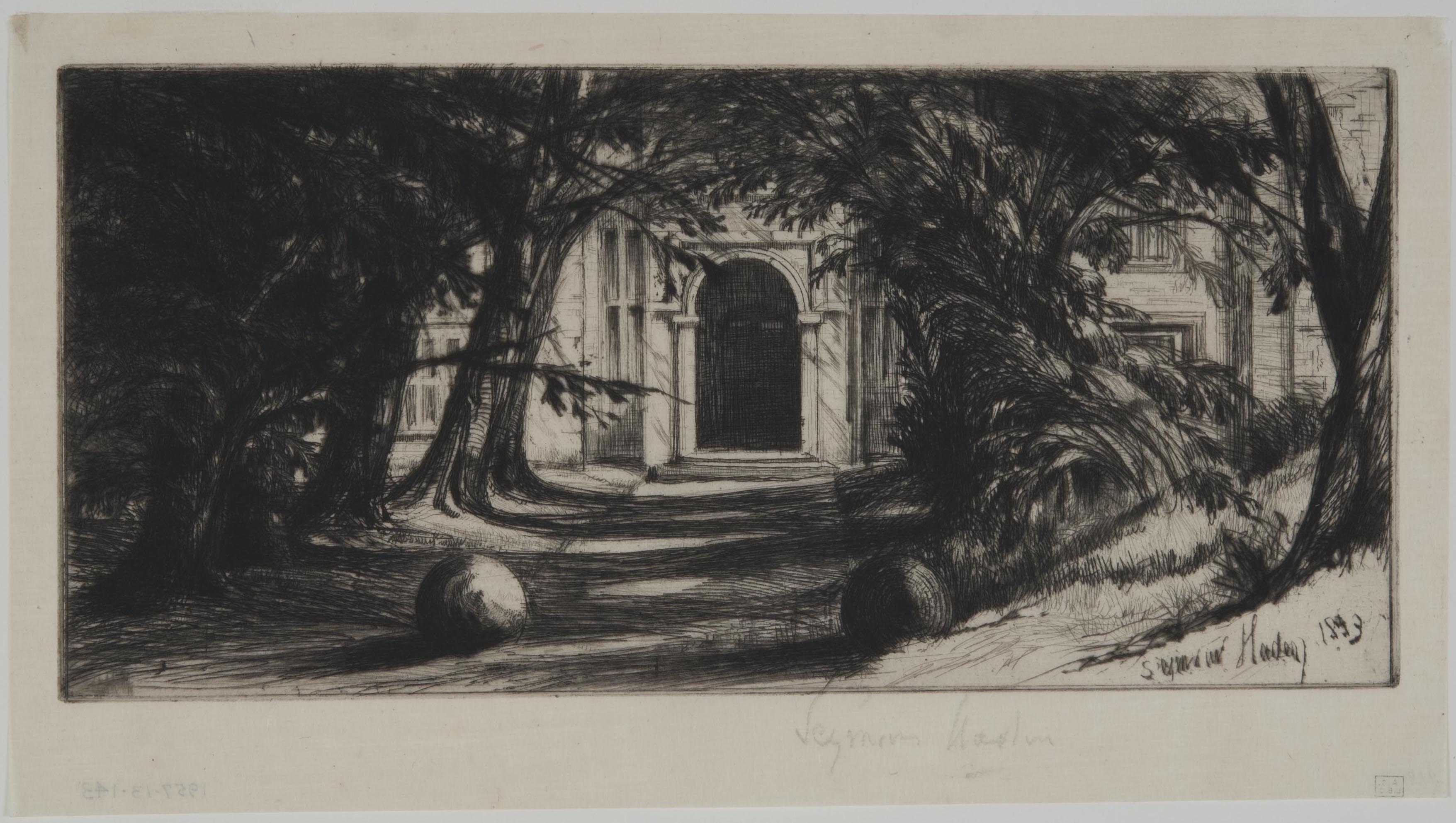 Francis Seymour Haden, Mytton Hall, 1859