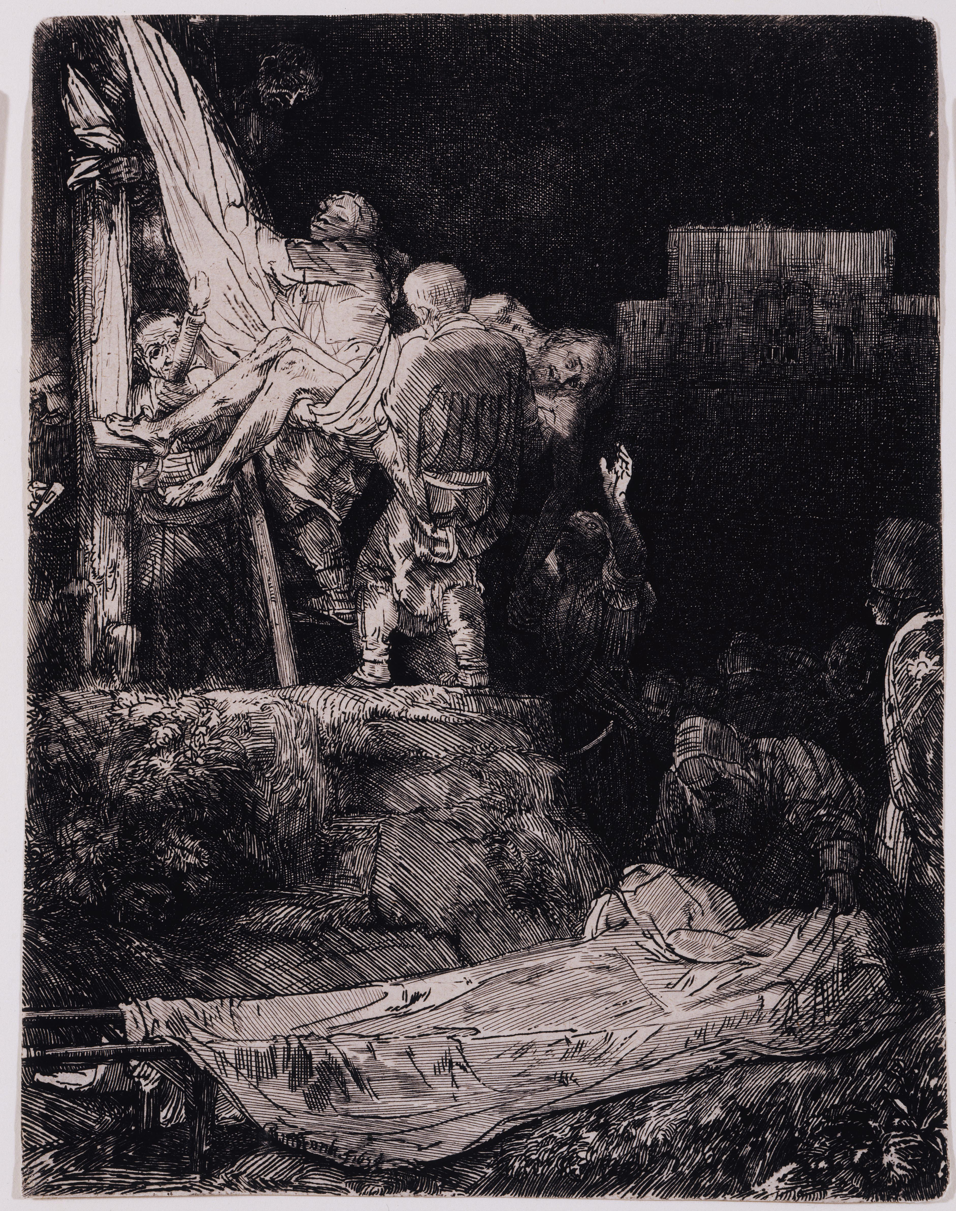 Rembrandt Harmensz. van Rijn, Descent from the Cross by Torchlight, 1654