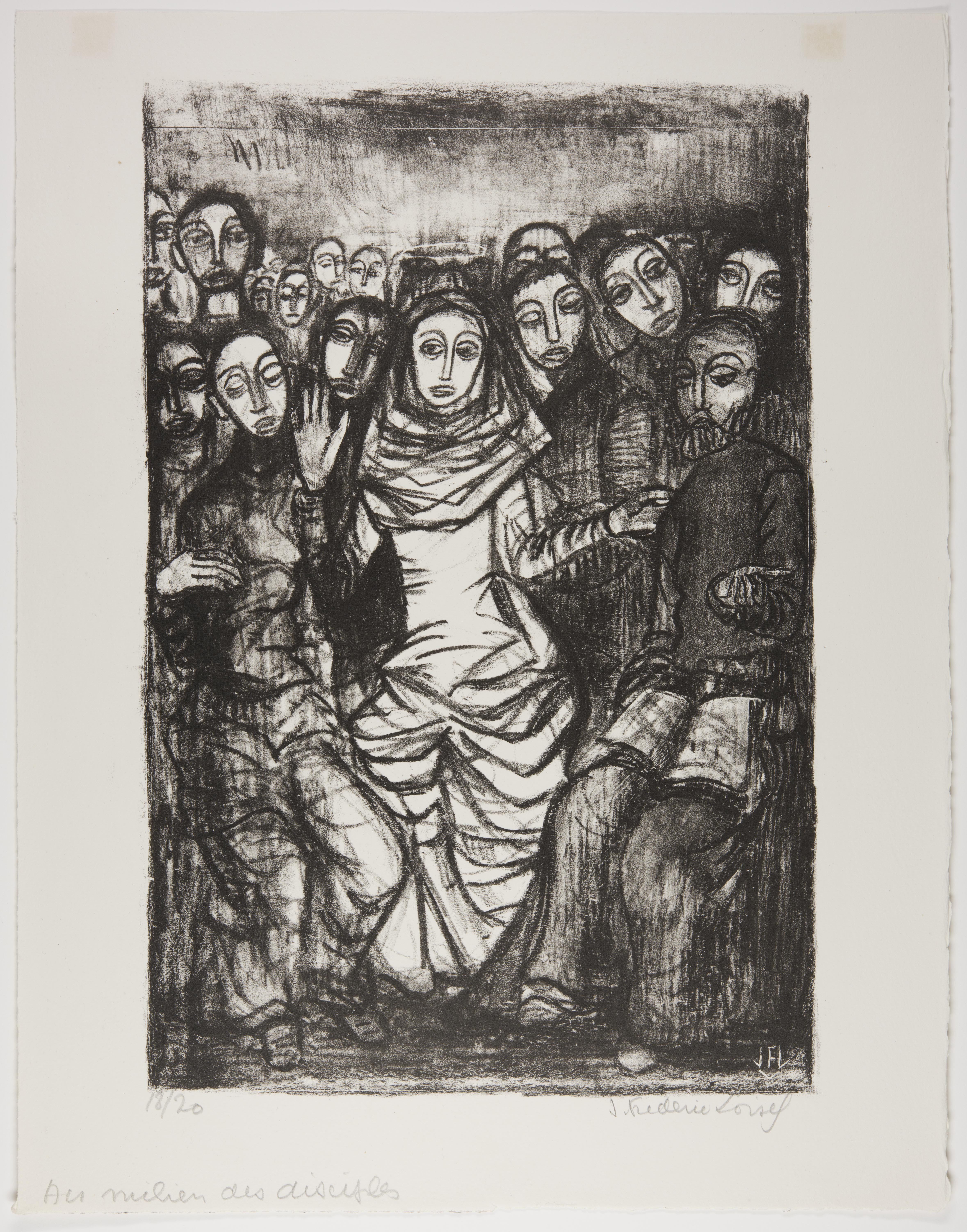 J. Frederic Loisel, In the Midst of the Disciples, 1949
