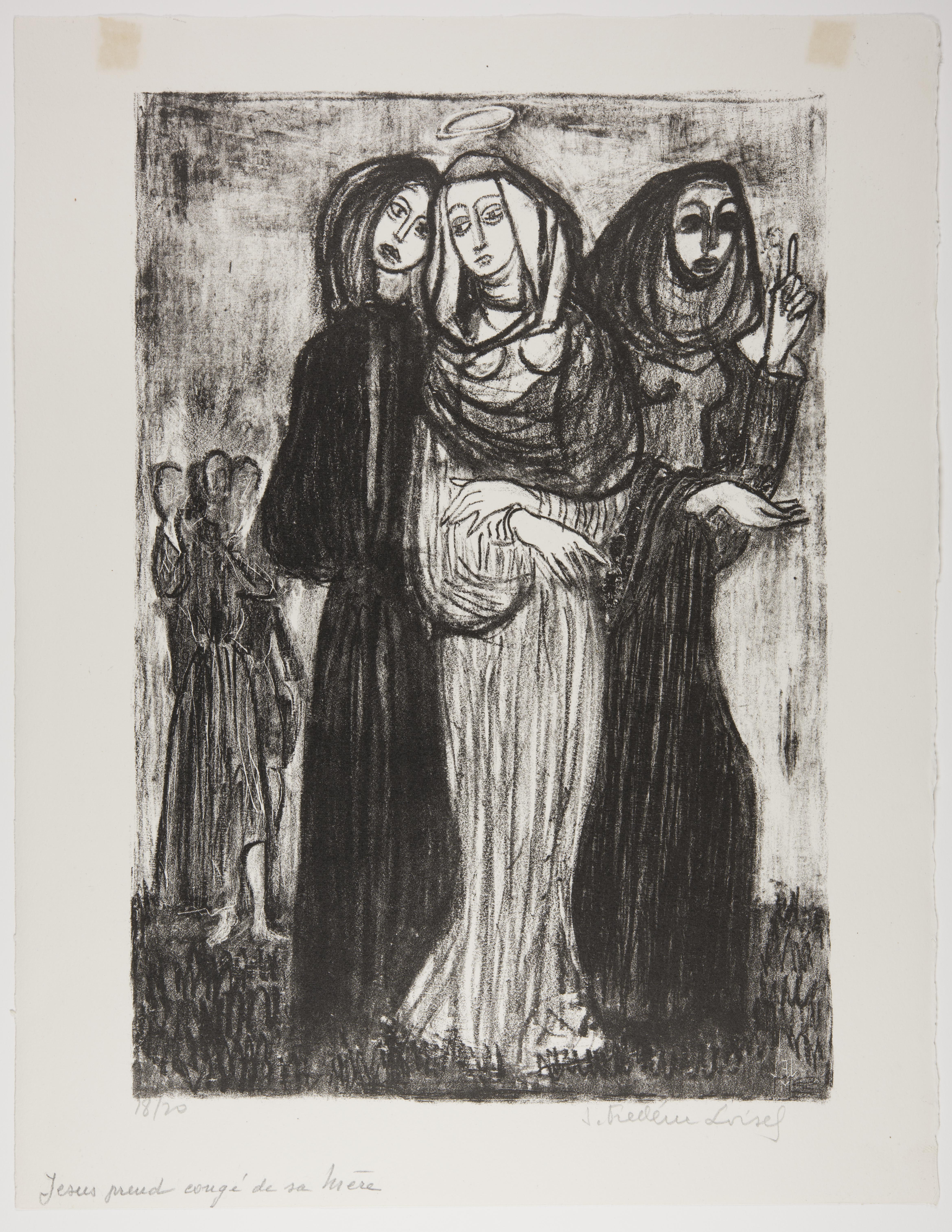 J. Frederic Loisel, Jesus Takes Leave of his Mother, 1949