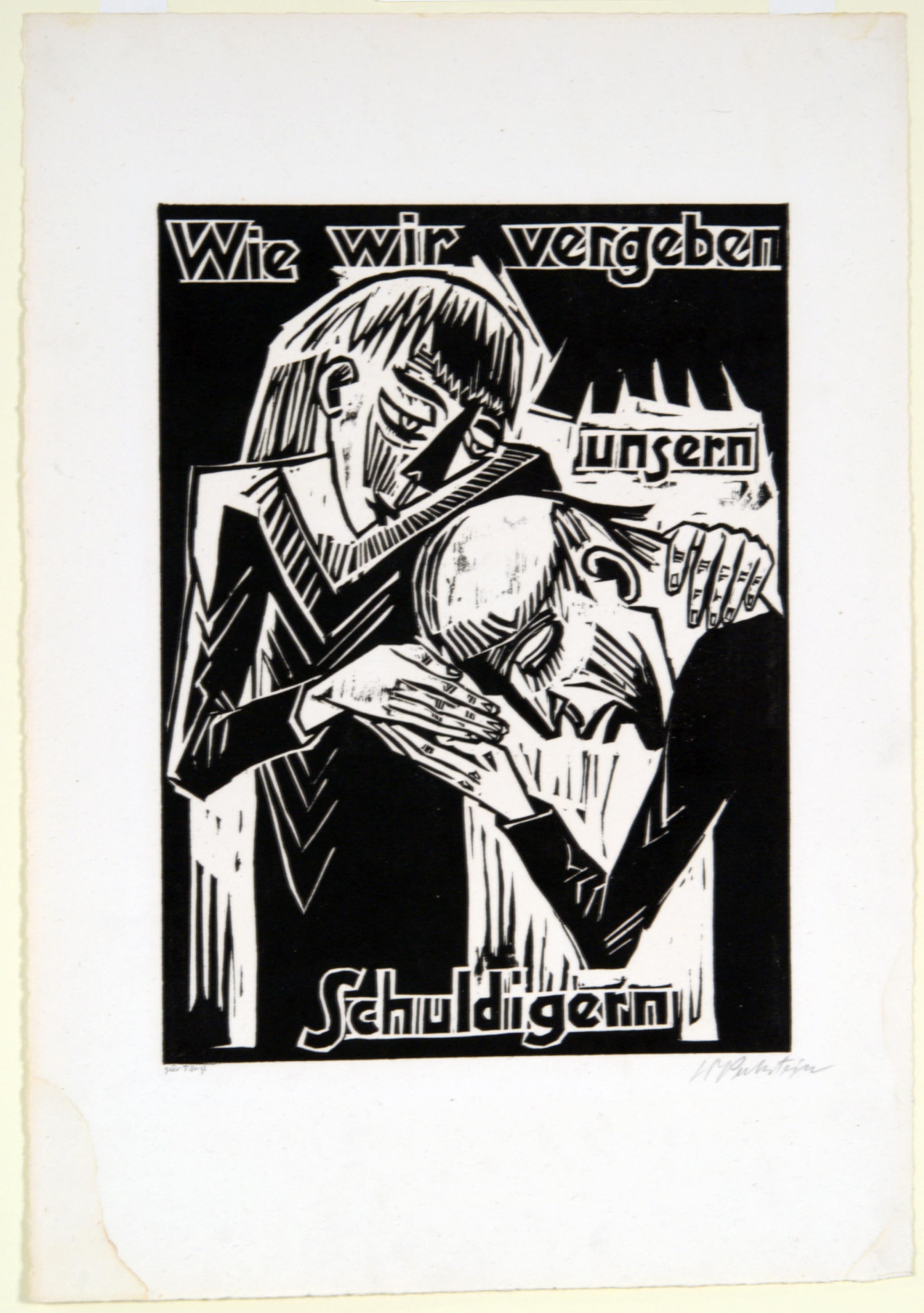 Max Pechstein, As we Forgive our Debtors, 1921
