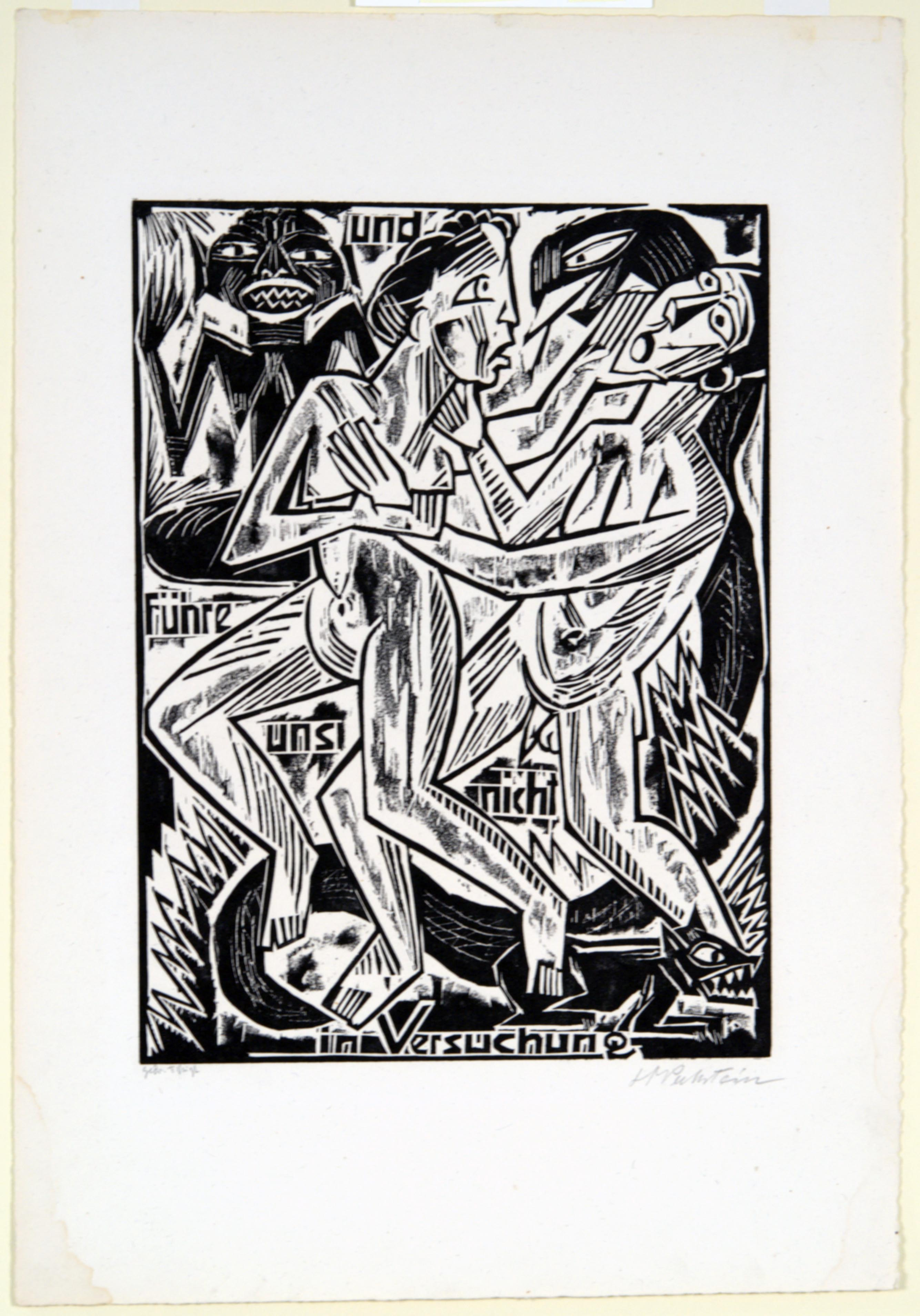 Max Pechstein, And Lead us Not into Temptation, 1921