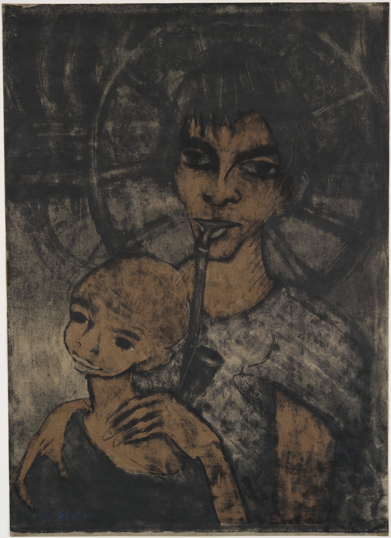 Otto Mueller, Gypsy Madonna, 1926–1927