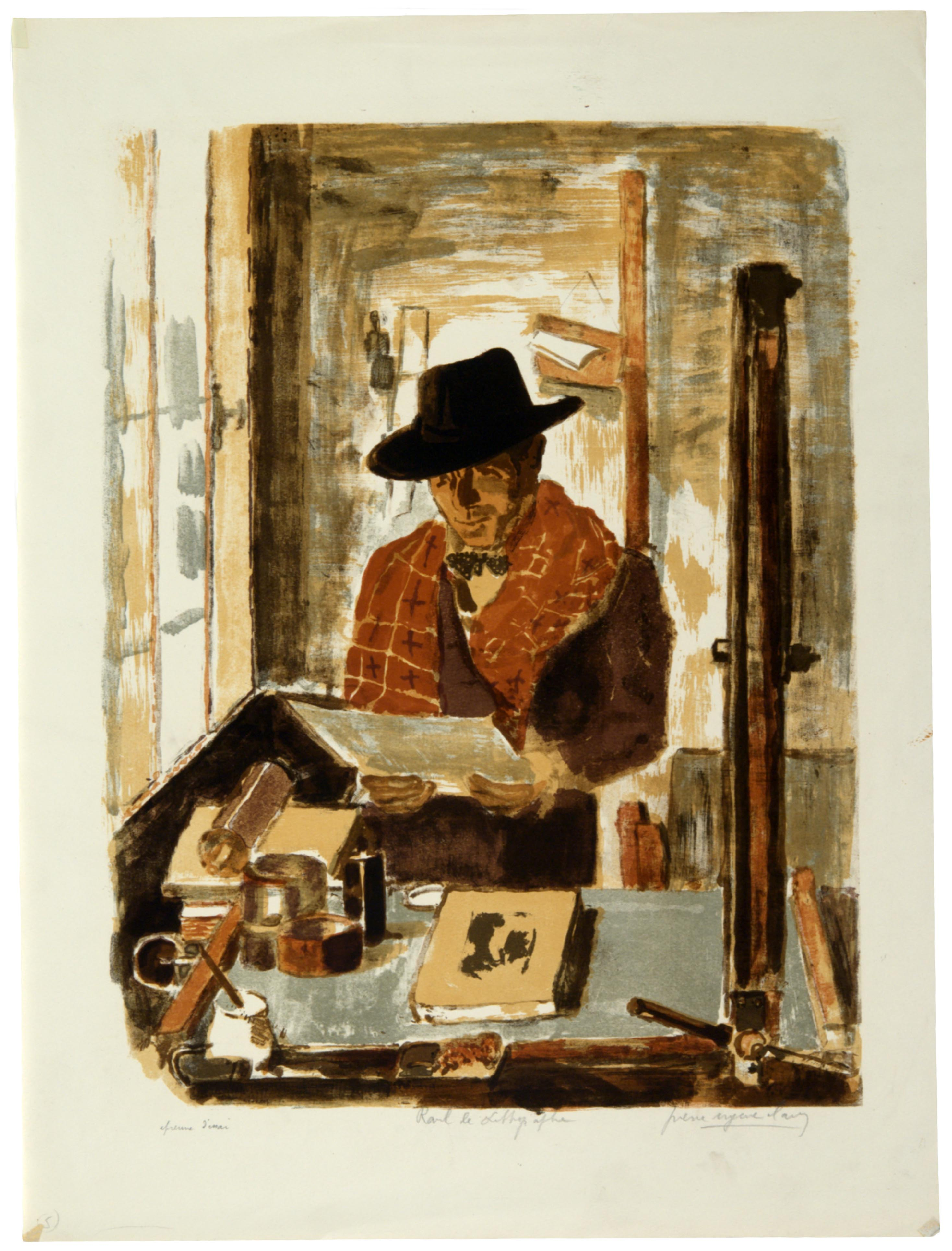 Pierre Eugene Clairin, Ravel the Lithographer, 1949