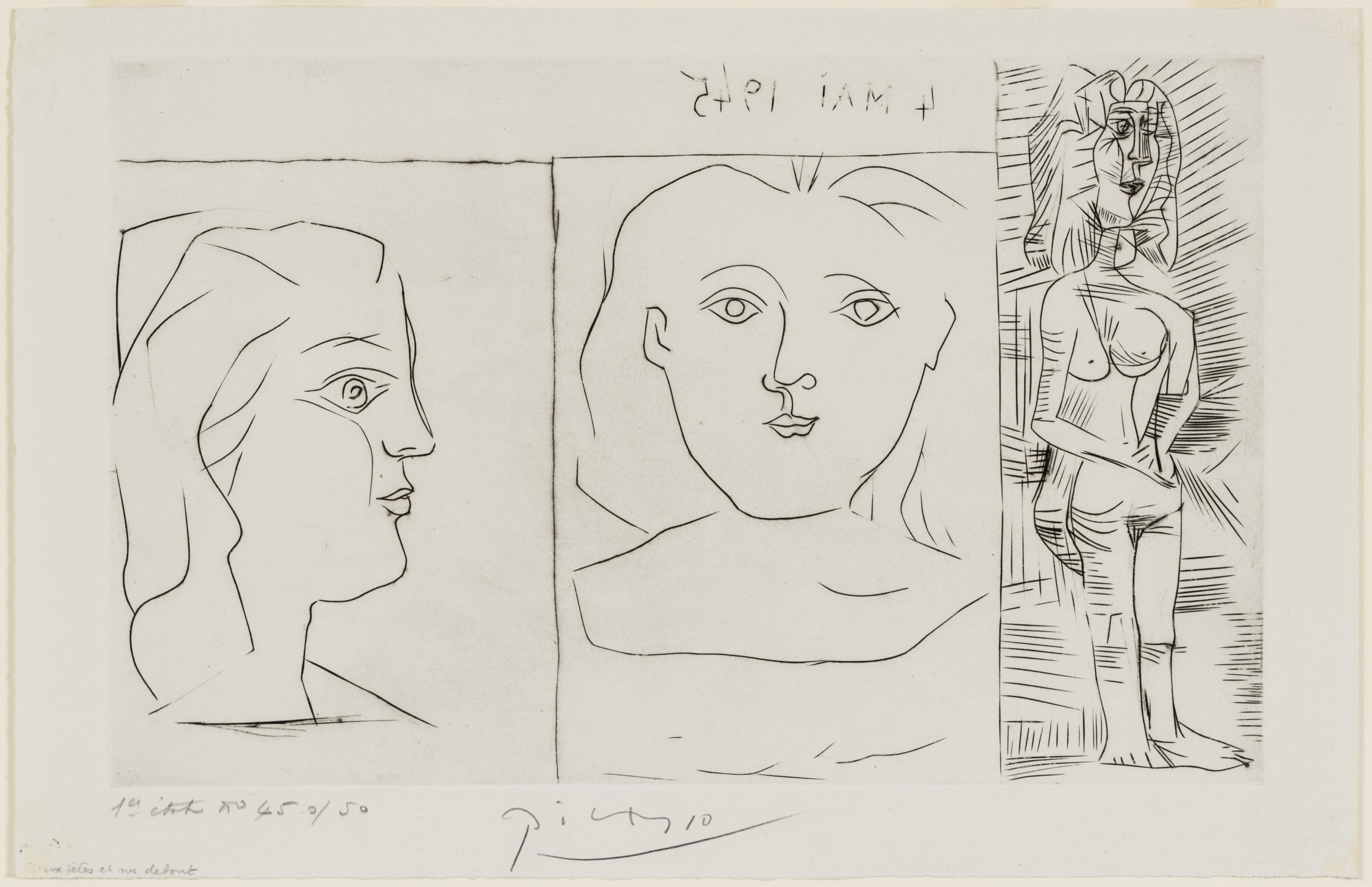 Pablo Picasso, May 4, 1945, 1945