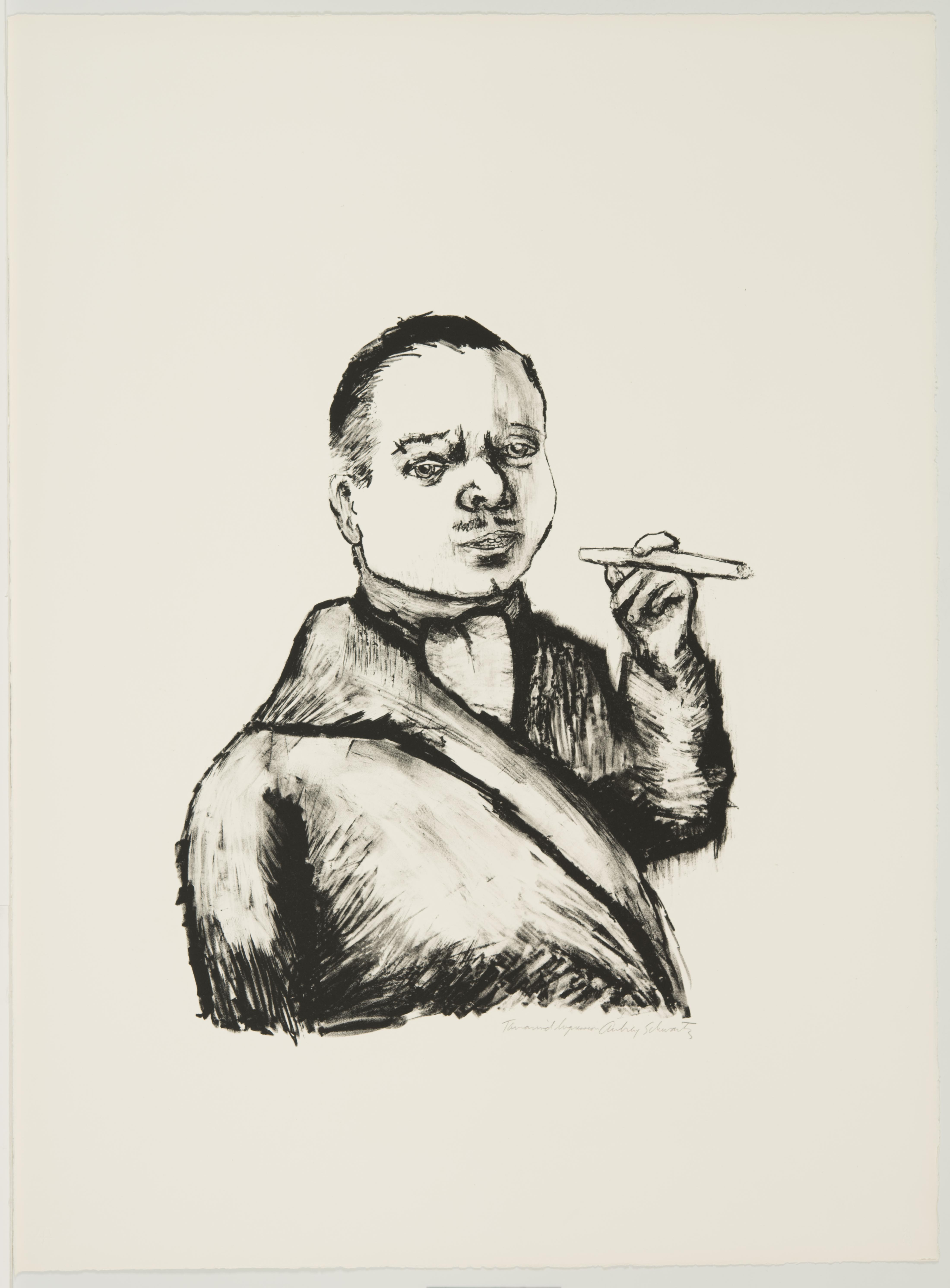 Aubrey Schwartz, Man with Cigar (IX), September - November 1960