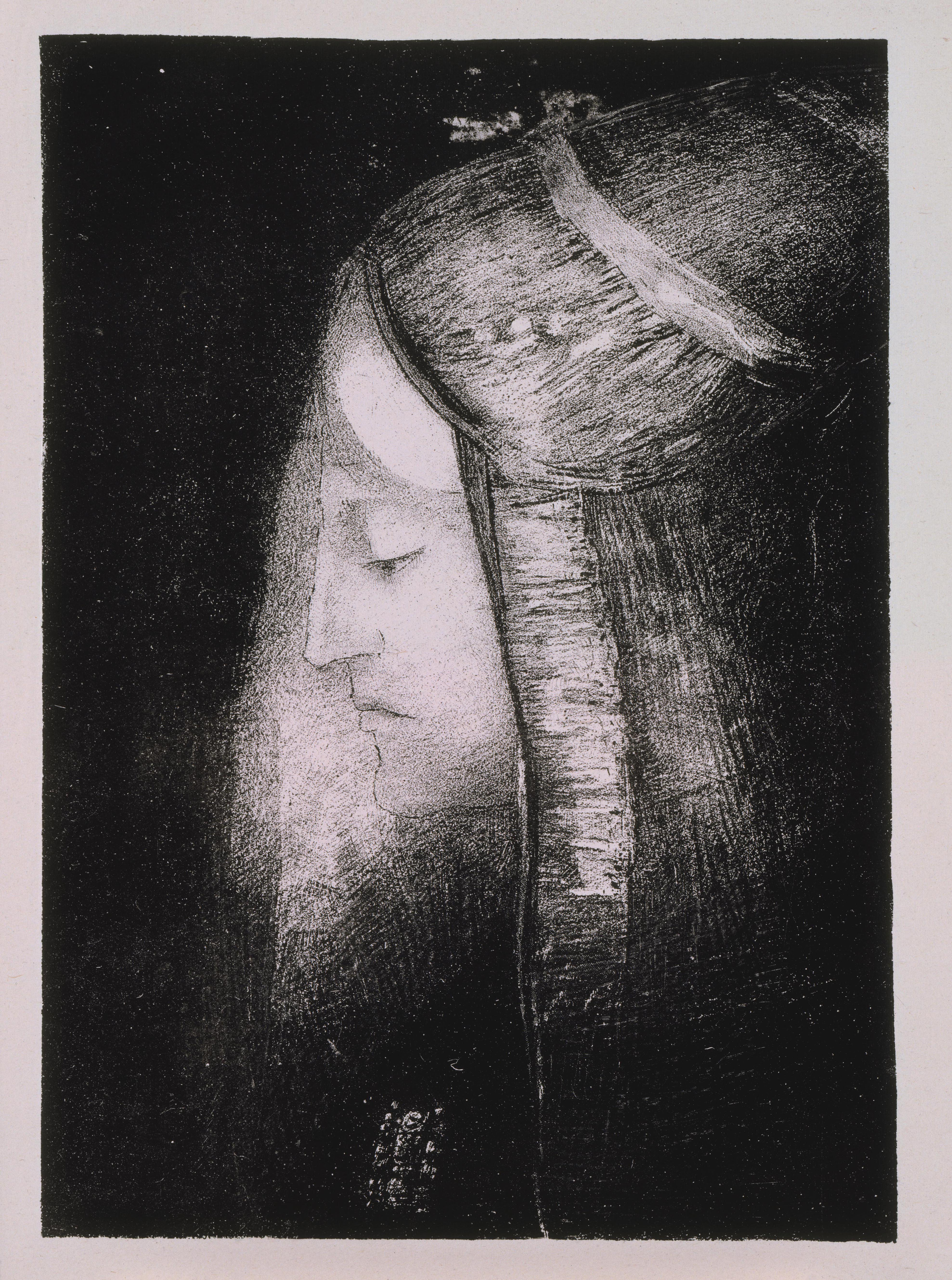 Odilon Redon, Profile of Light, 1886