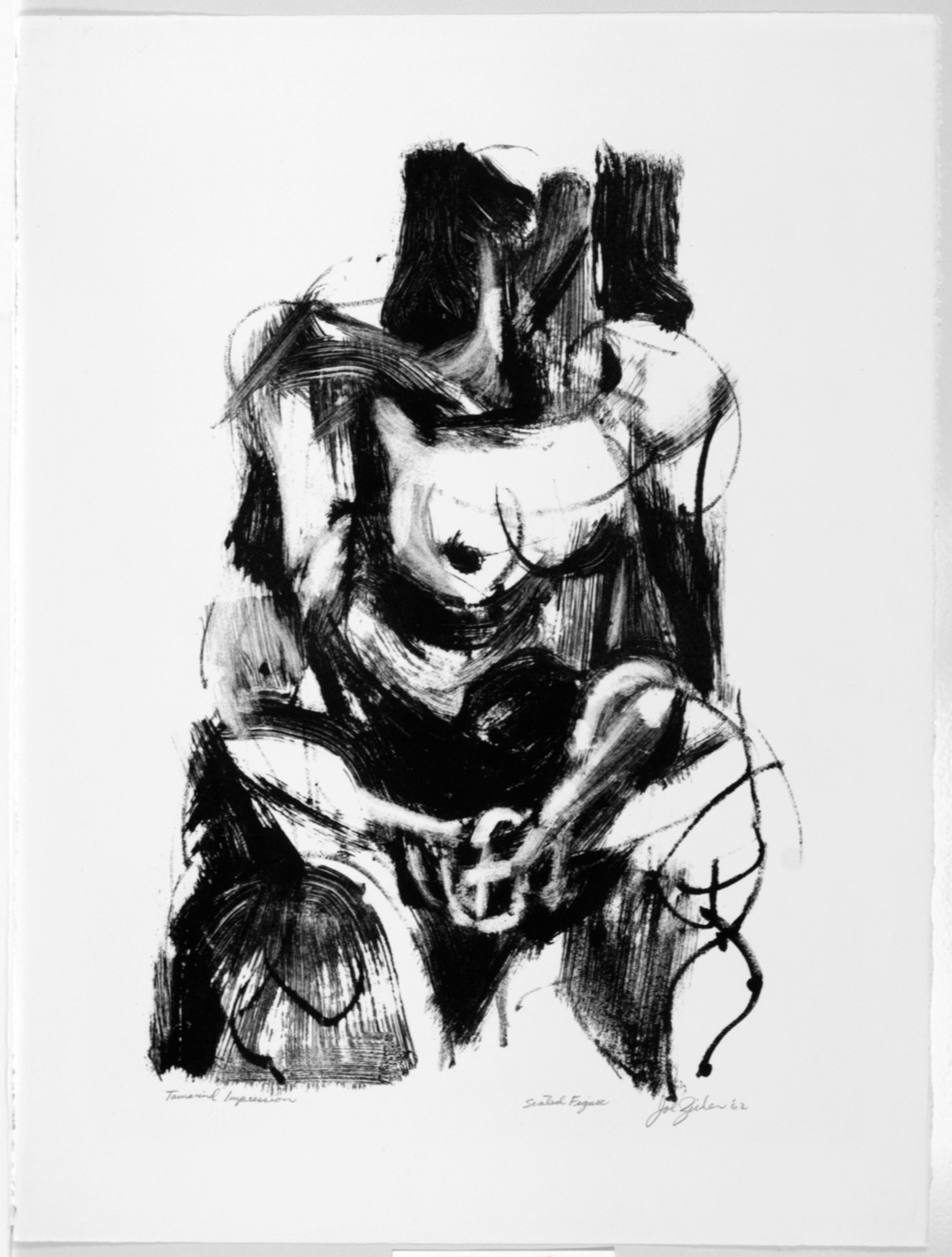 Joe Zirker, Seated Figure, 1962