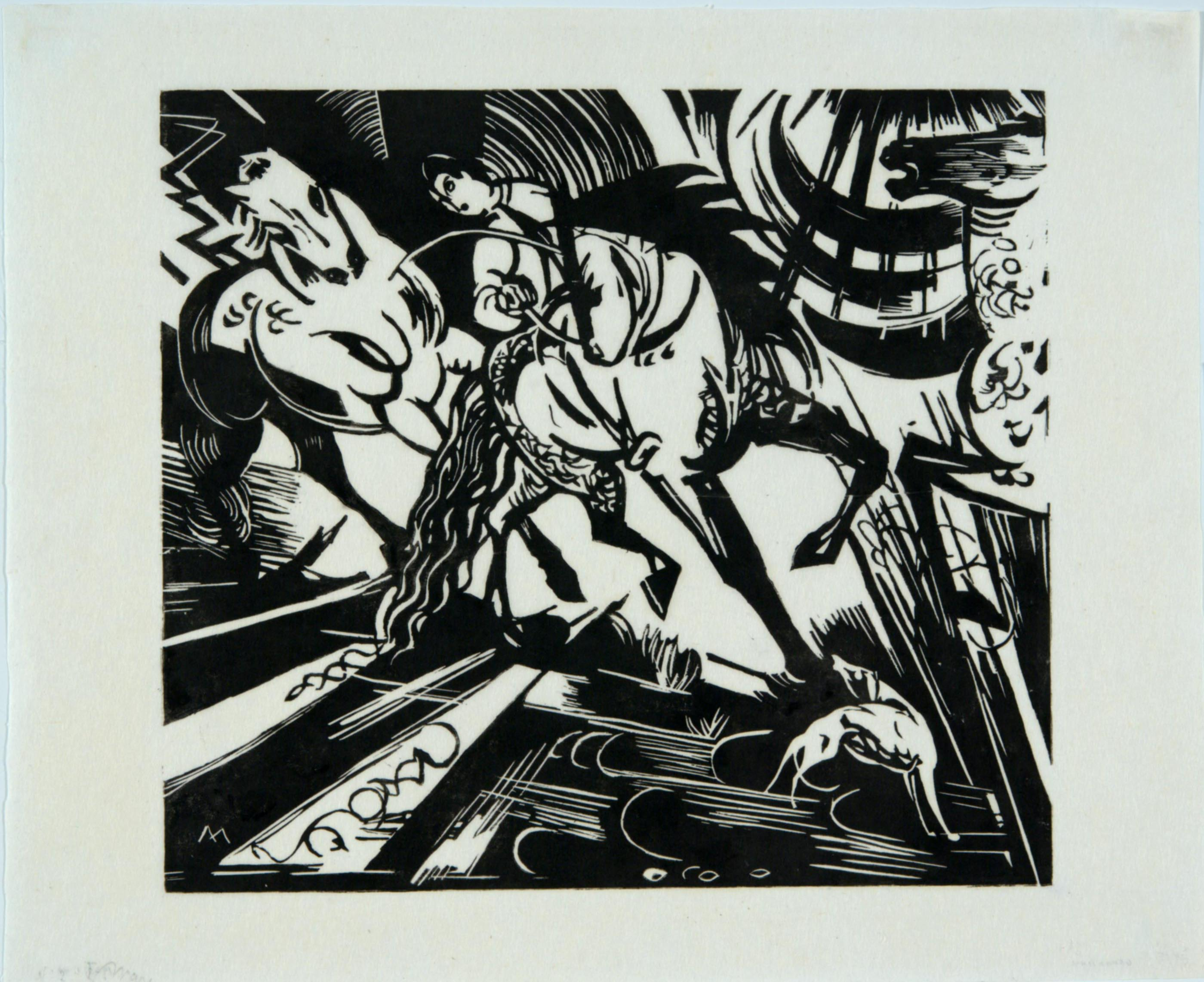 Franz Marc, Riding School after Ridinger, 1913