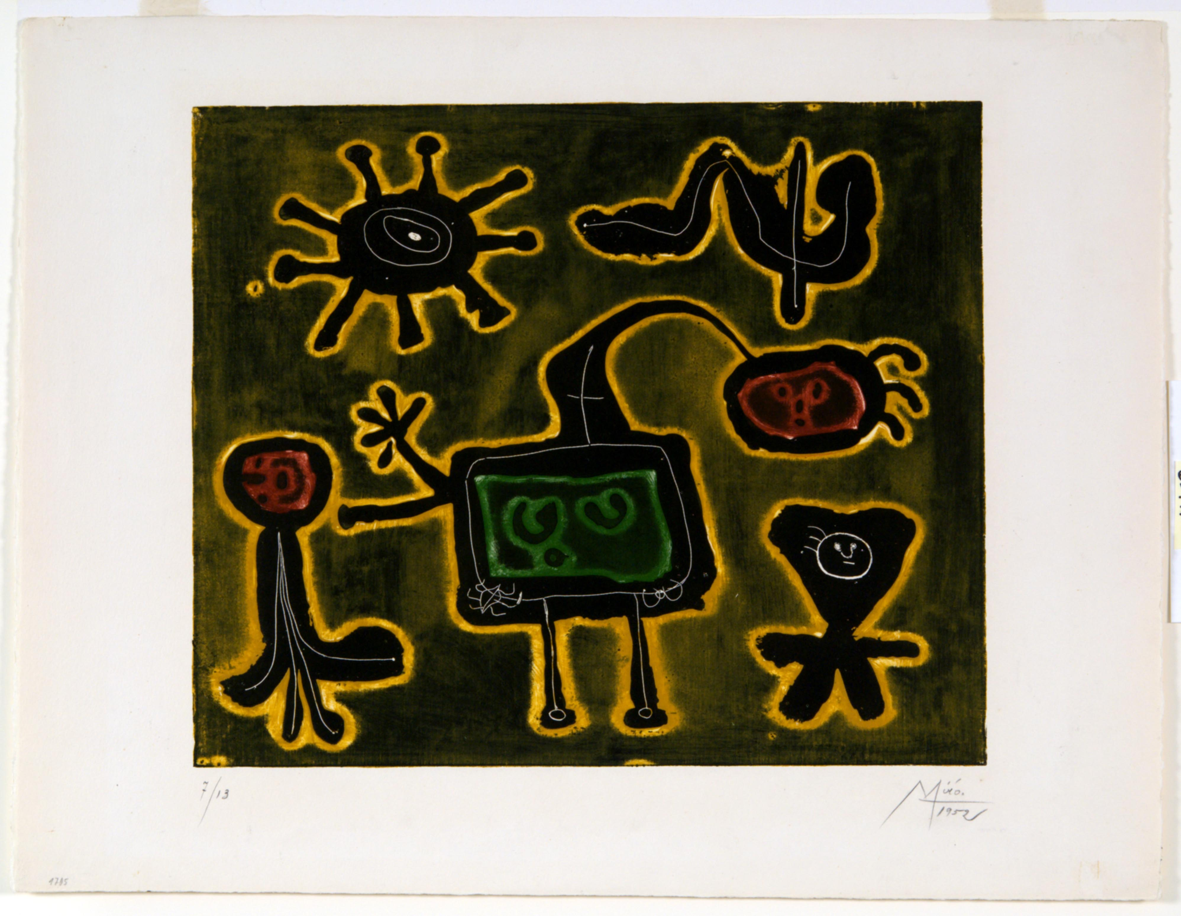 Joan Miró, Composition from Serie I, 1952