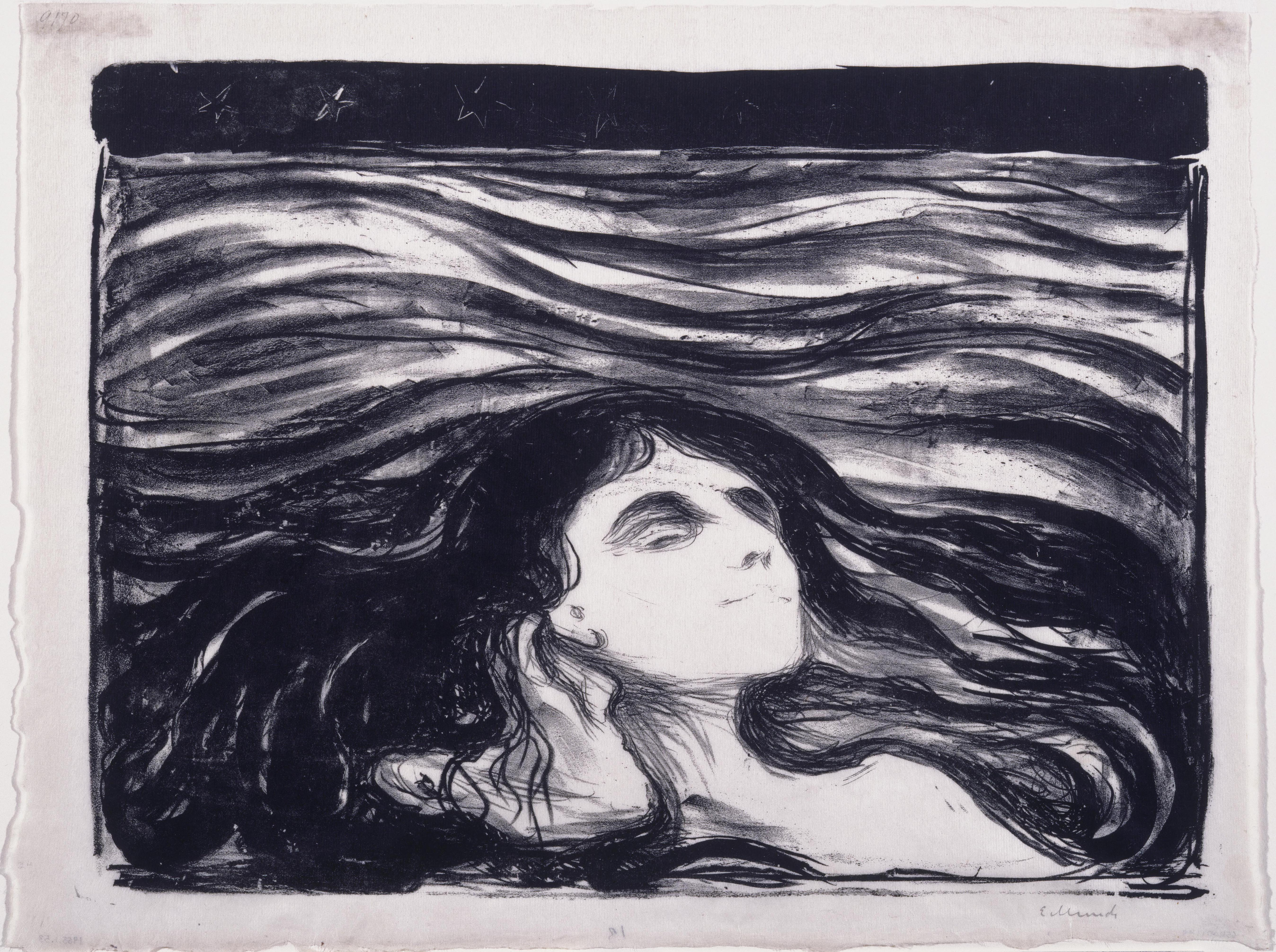 Edvard Munch, On the Waves of Love, 1896