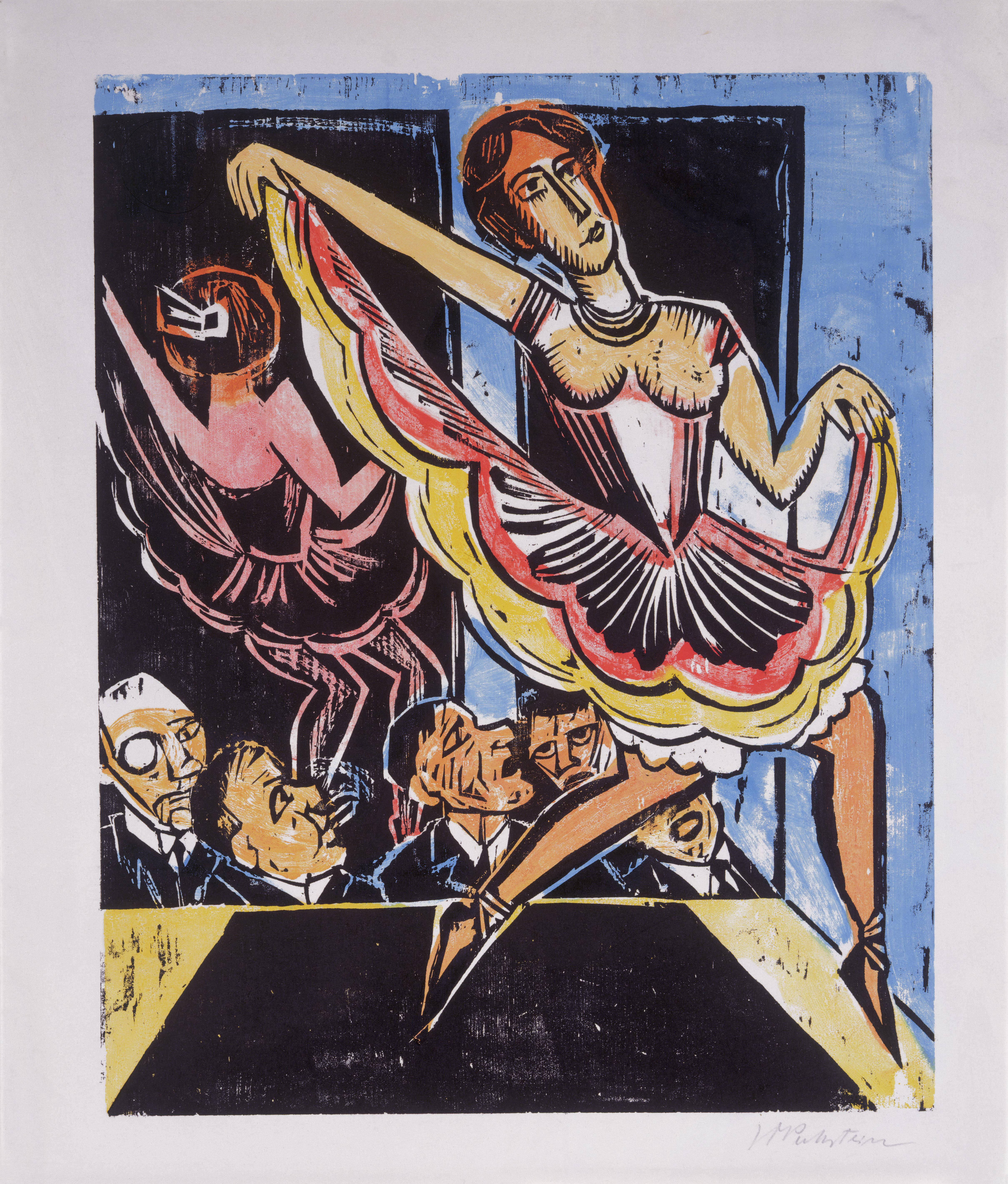 Max Pechstein, Female Dancer in the Mirror, 1923