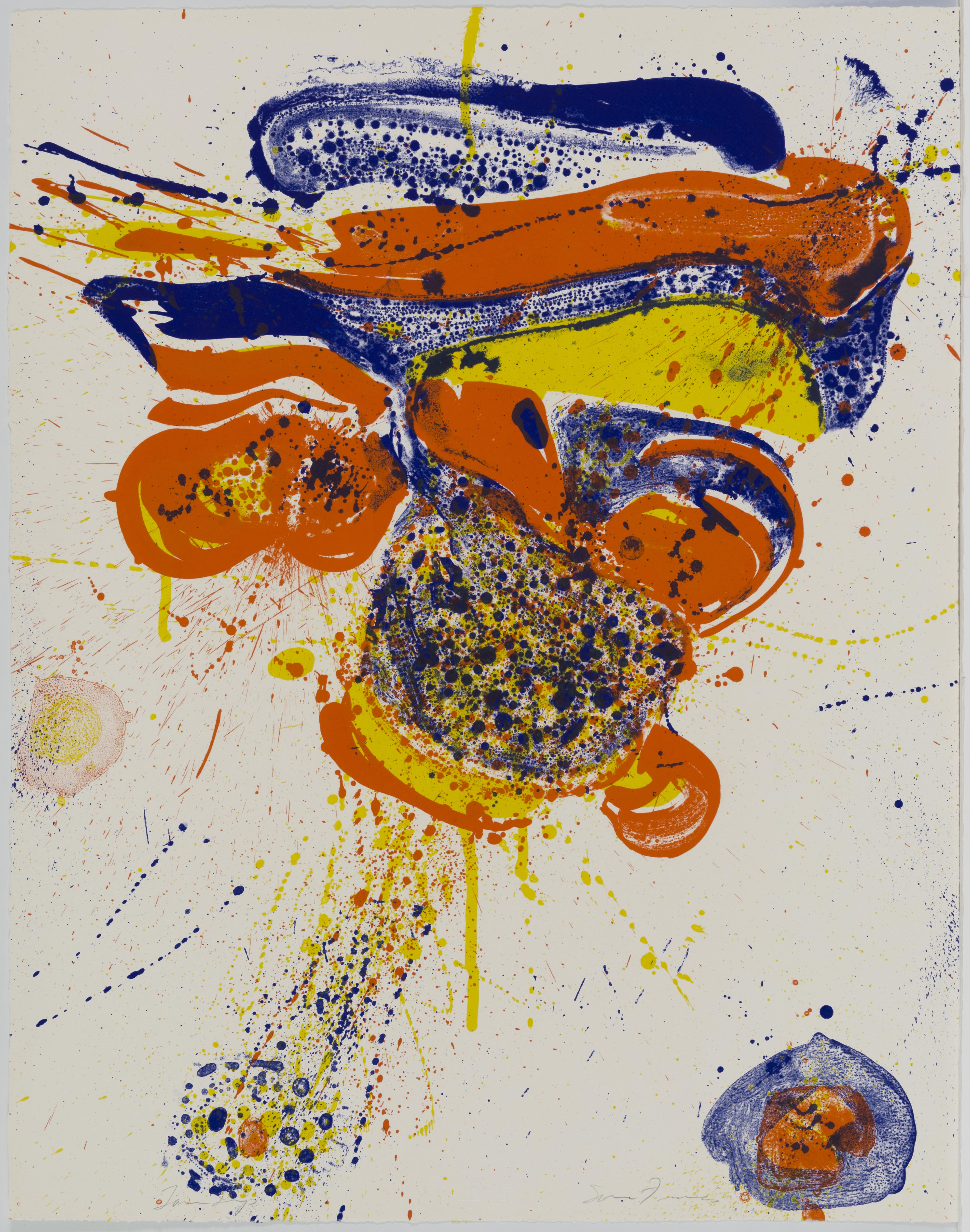 Sam Francis, Flying Love, April 19-25, 1963