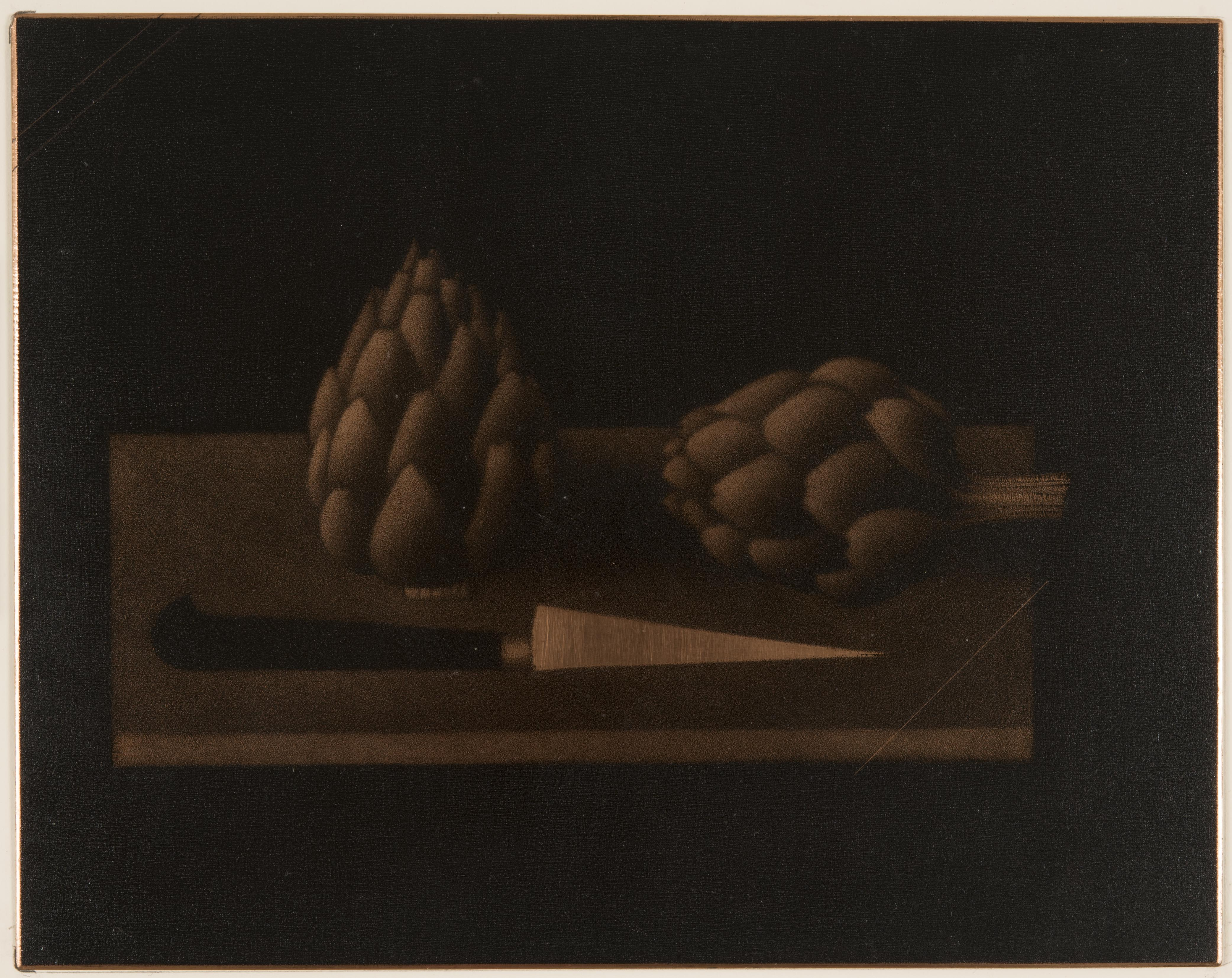 Mario Avati, Still Life with Artichokes, 1959