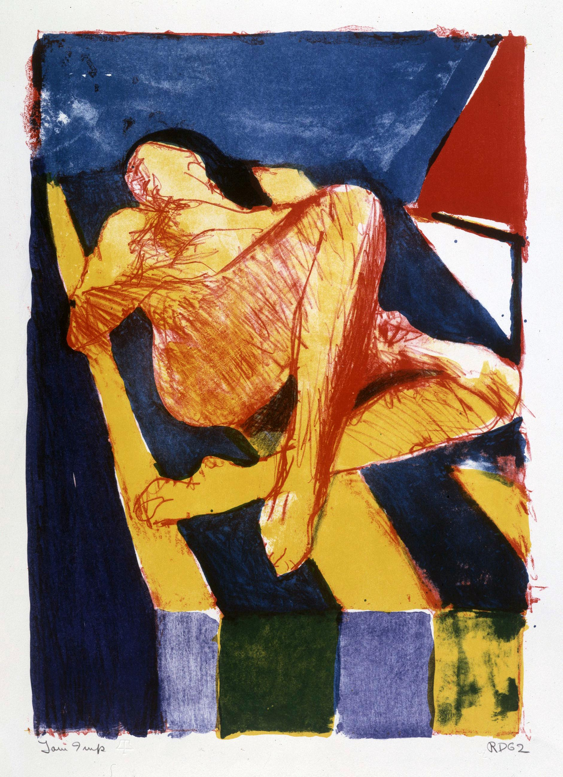 Richard Diebenkorn, Reclining Figure II, April 25-May 8, 1962