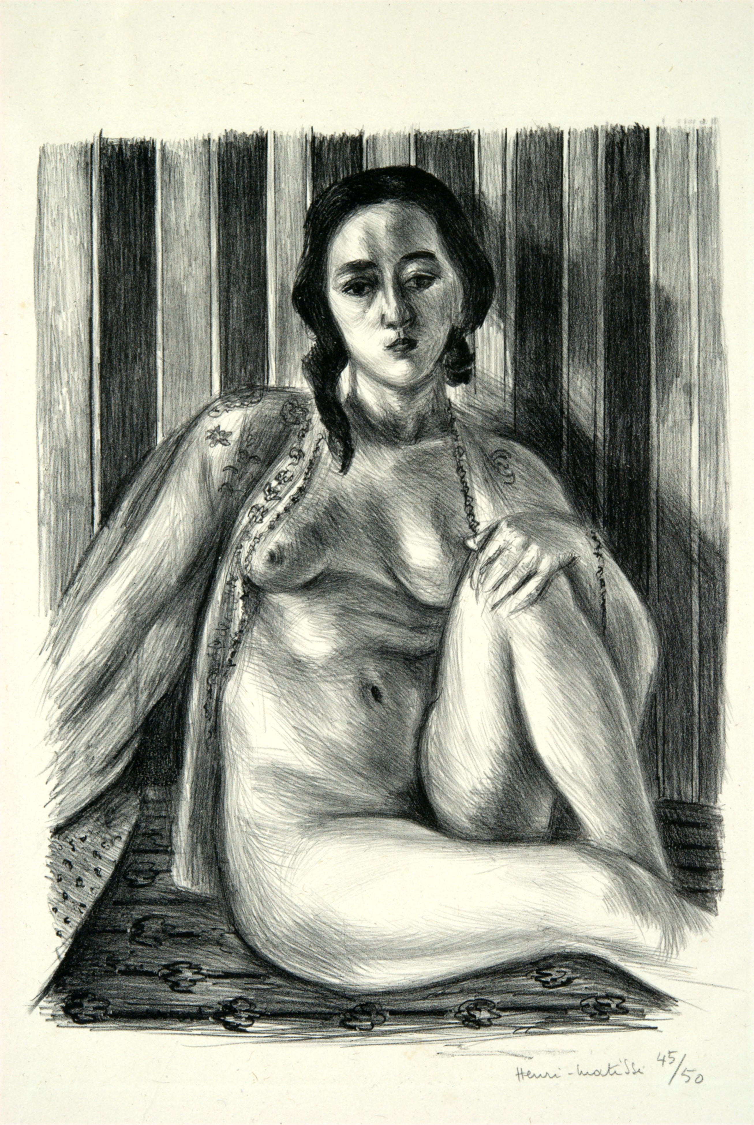 Henri Matisse, Seated Nude in a Tulle Blouse, 1925