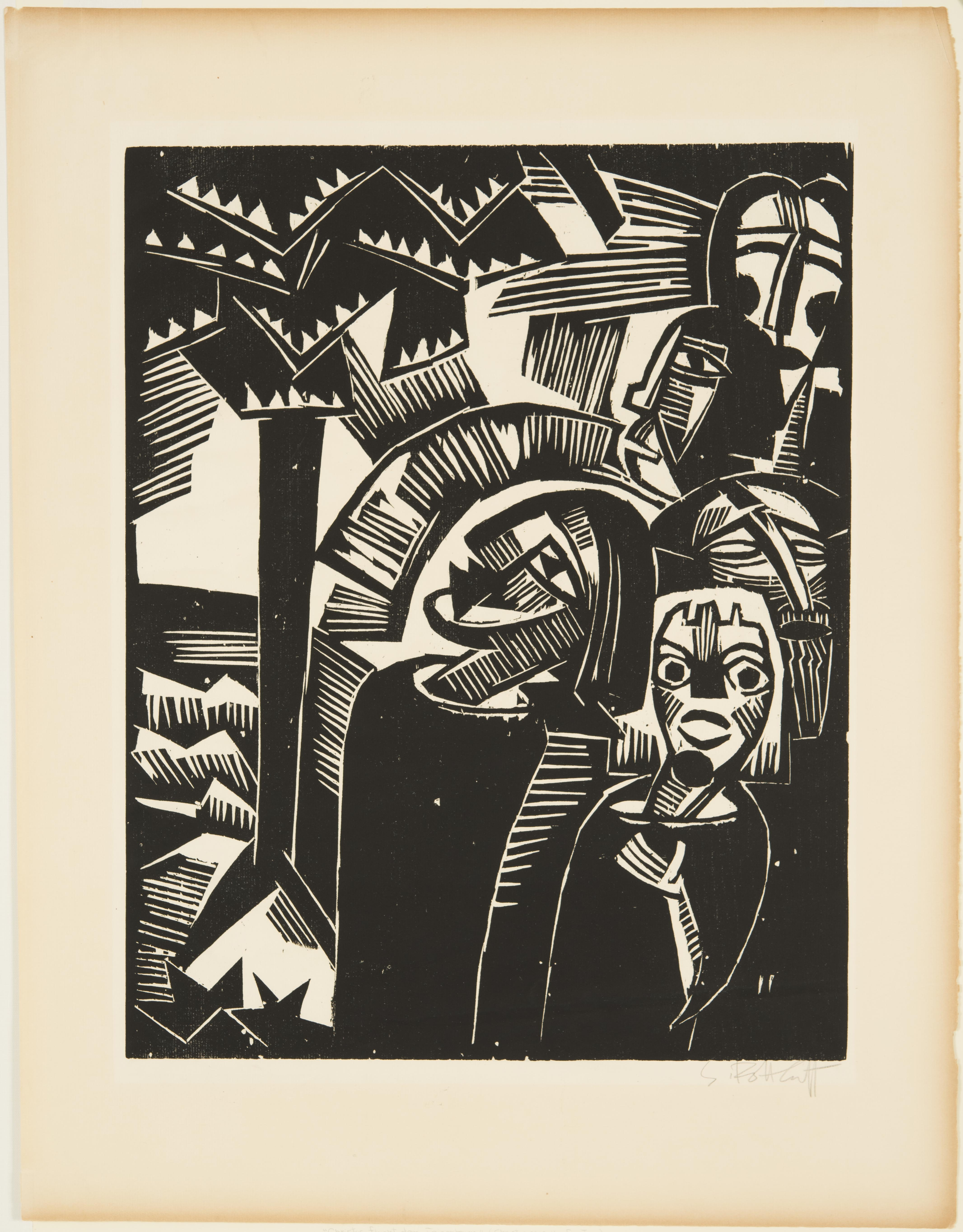 Karl Schmidt-Rottluff, Christ Curses the Fig Tree, 1918