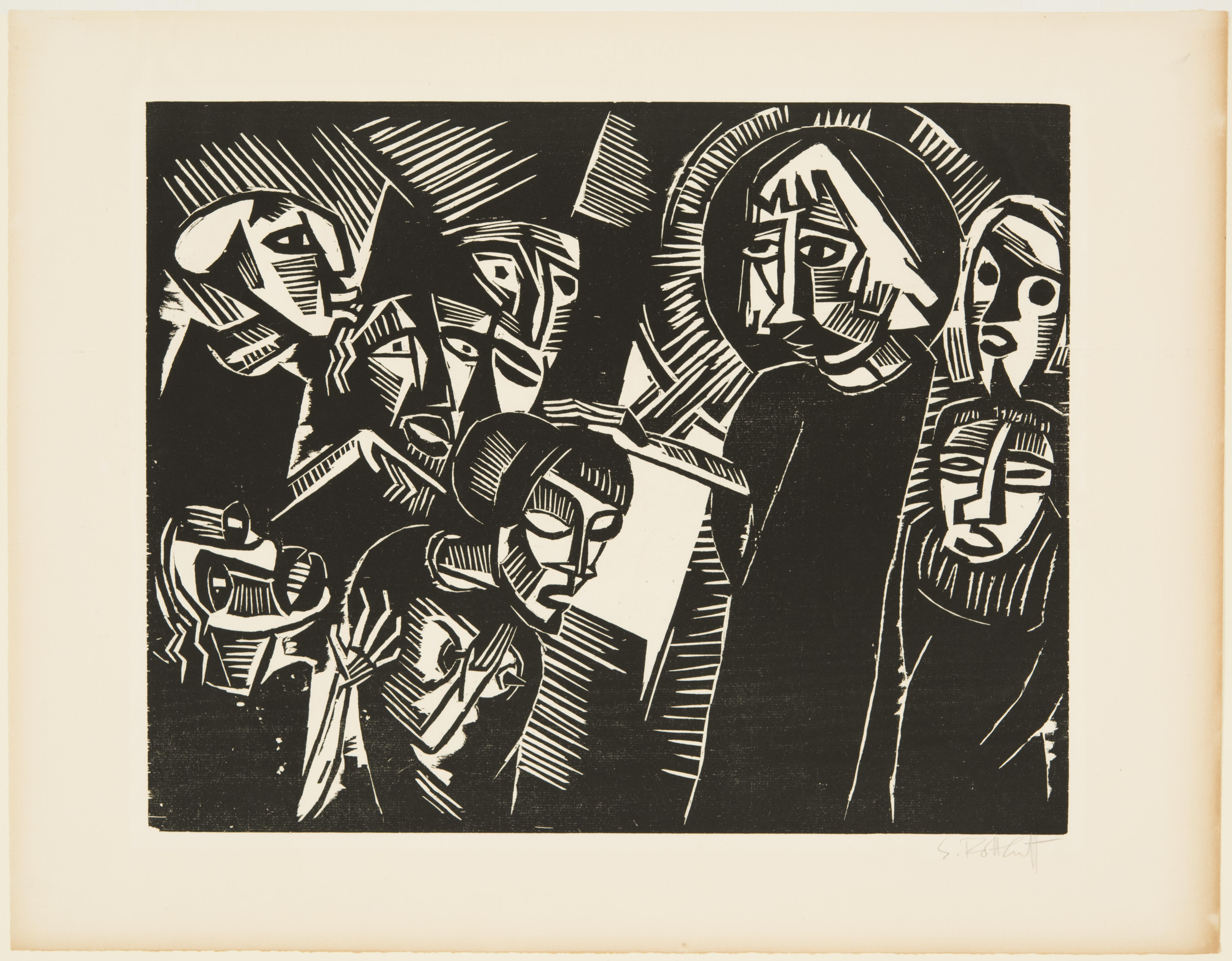 Karl Schmidt-Rottluff, Christ and the Adultress, 1918