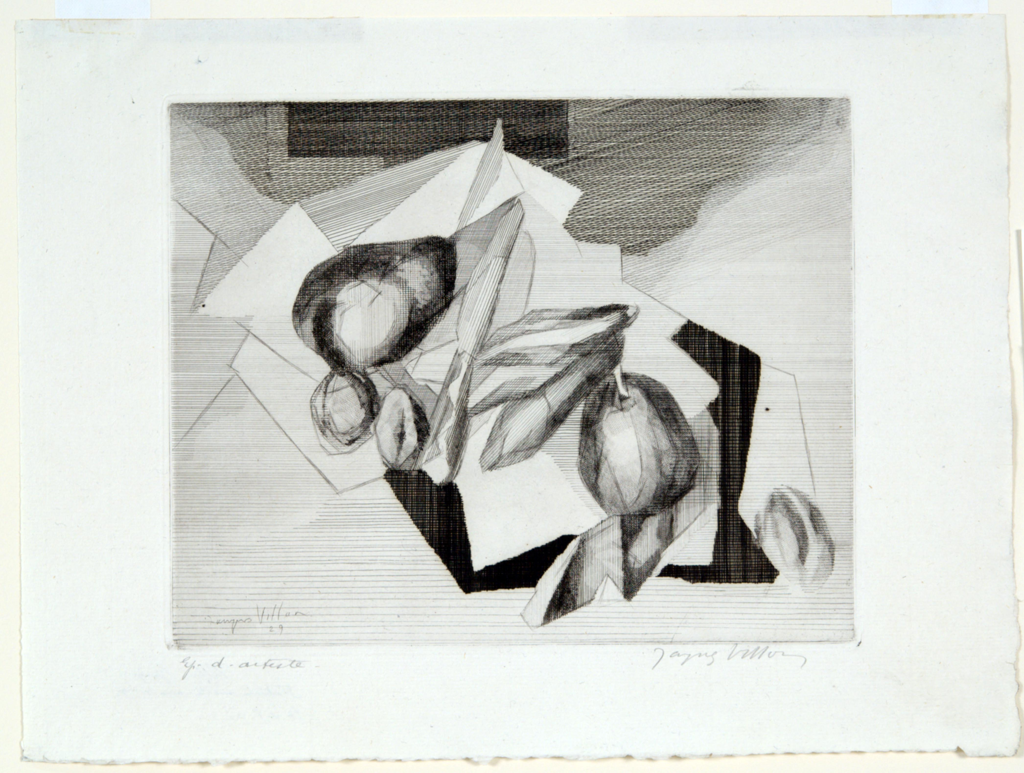 Jacques Villon, Still Life with Nuts, 1929