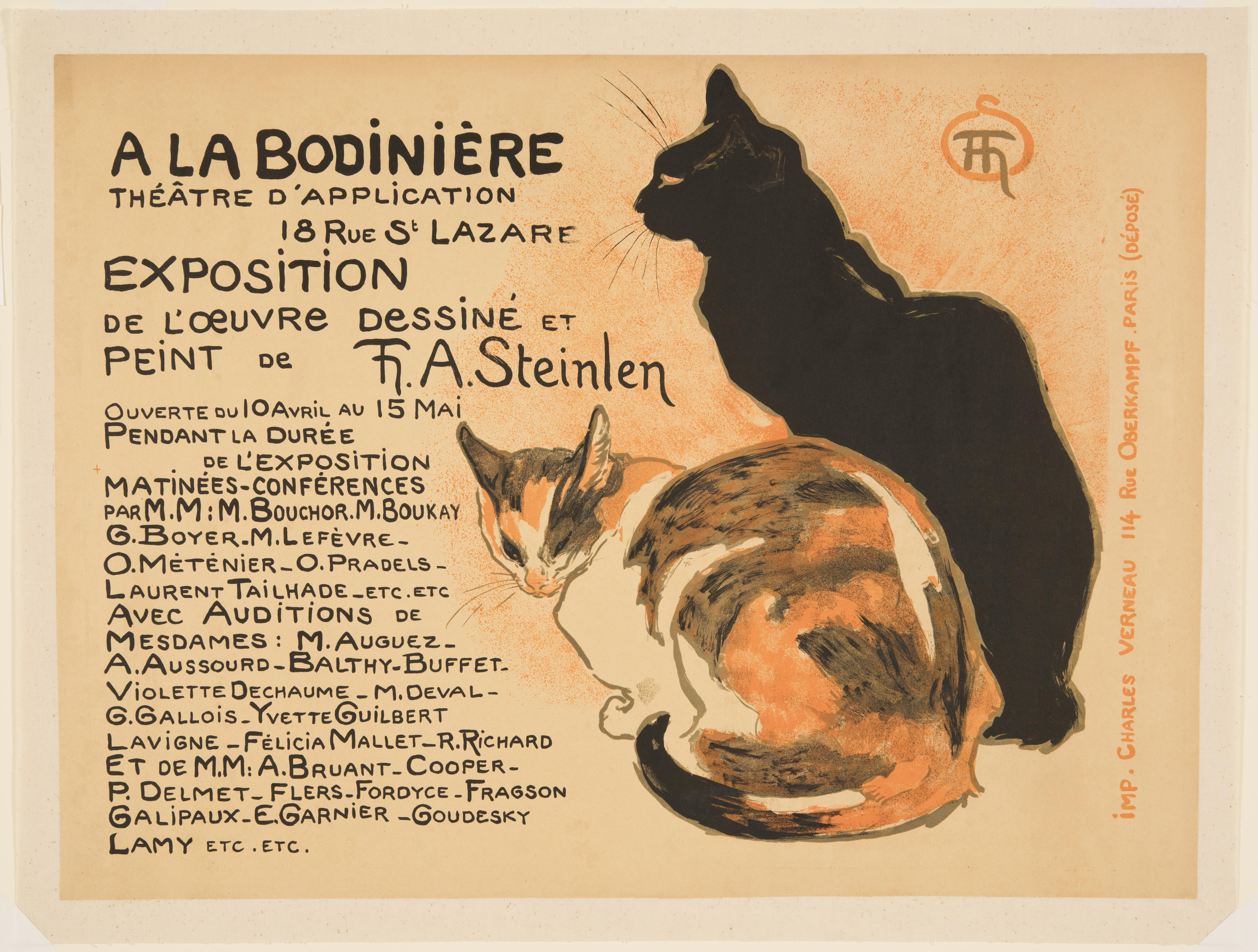 Théophile Alexandre Steinlen, Exhibition of paintings and drawings by T.-A. Steinlen, 1894