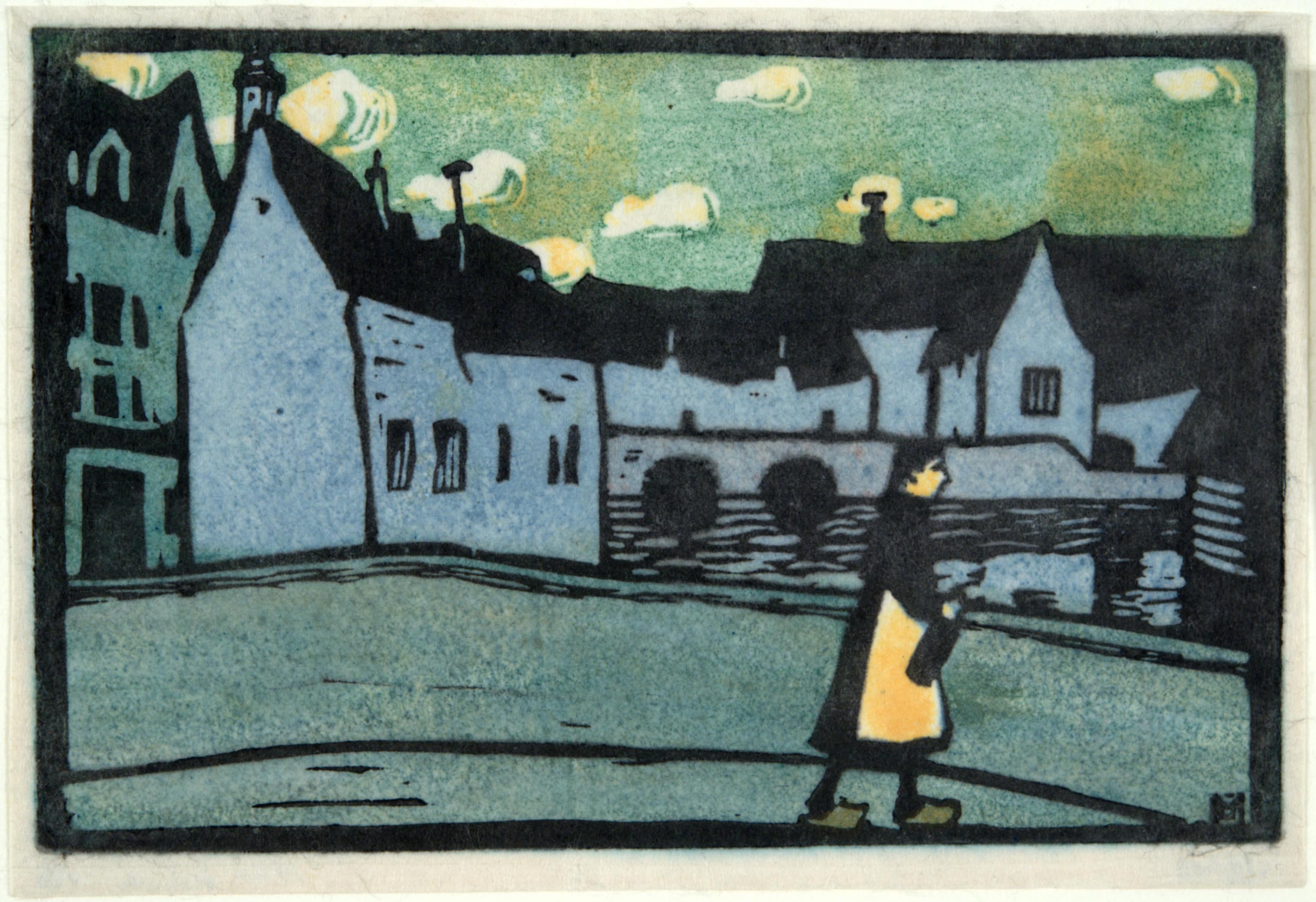 Gabriele Münter, Bridge in Chartres, 1907
