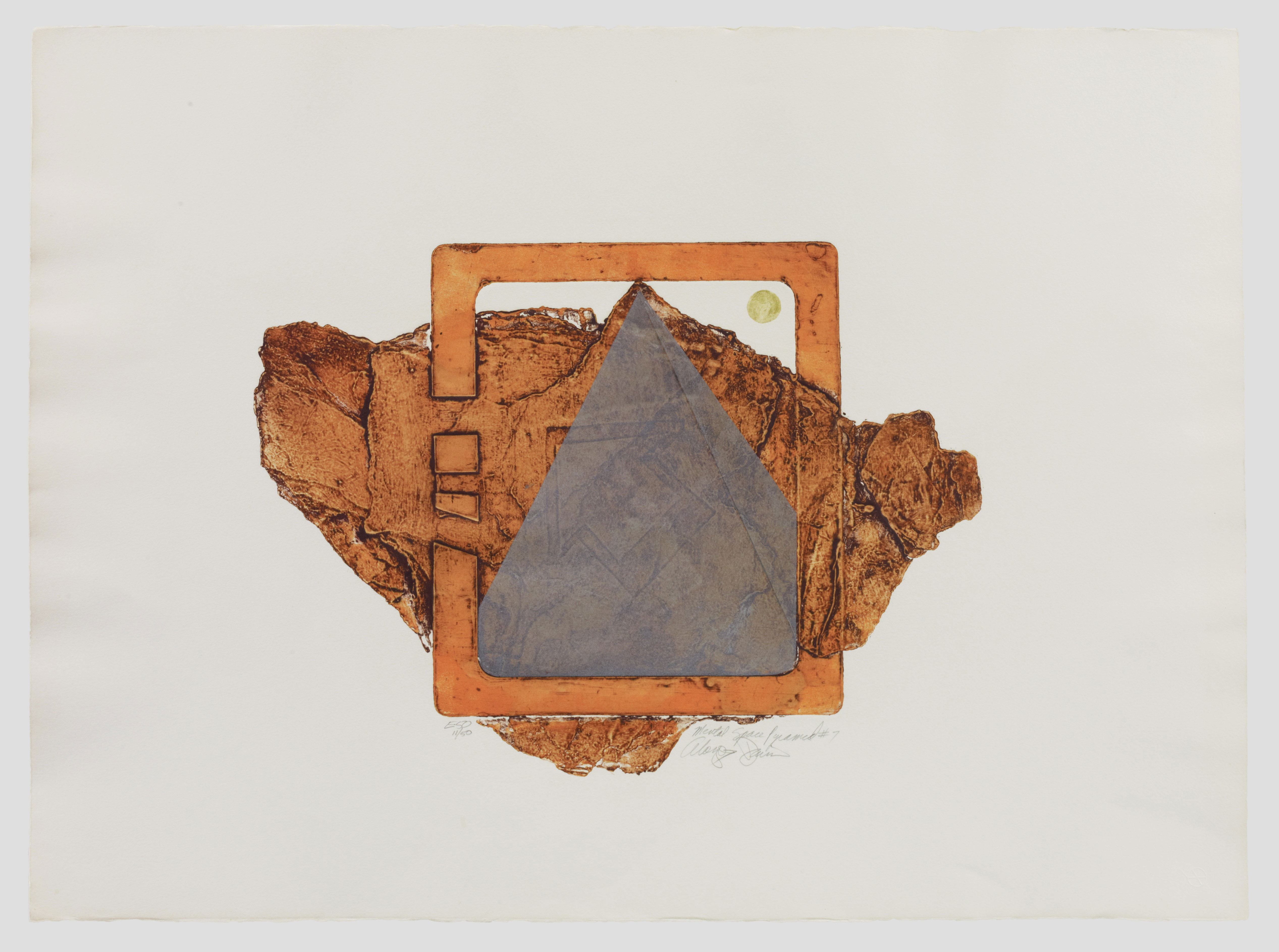 Pyramid #7, from the Mental Space Series, by Alonzo Davis, 1978-1979