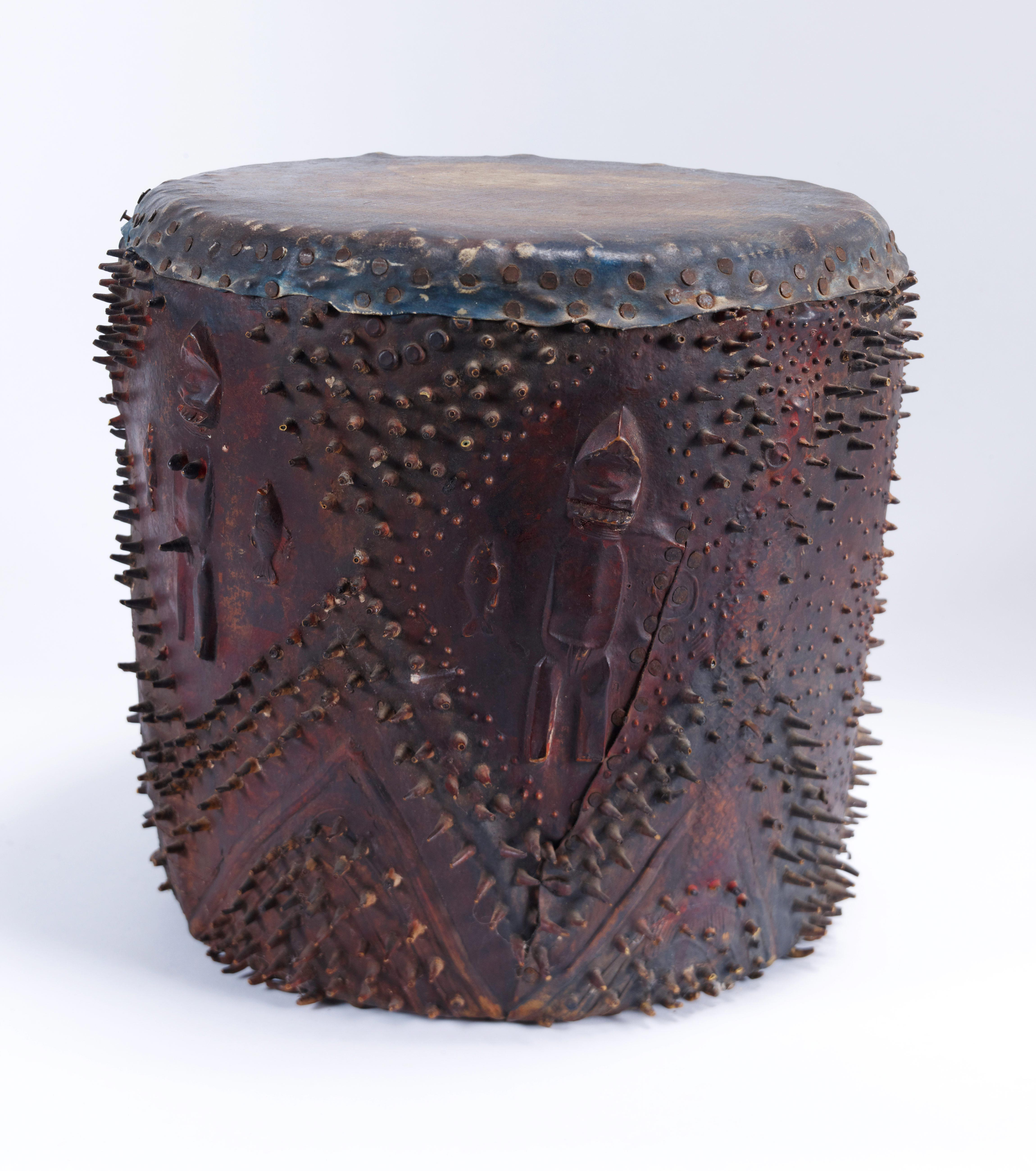 Drum, by Houston Conwill, c.1975-1980