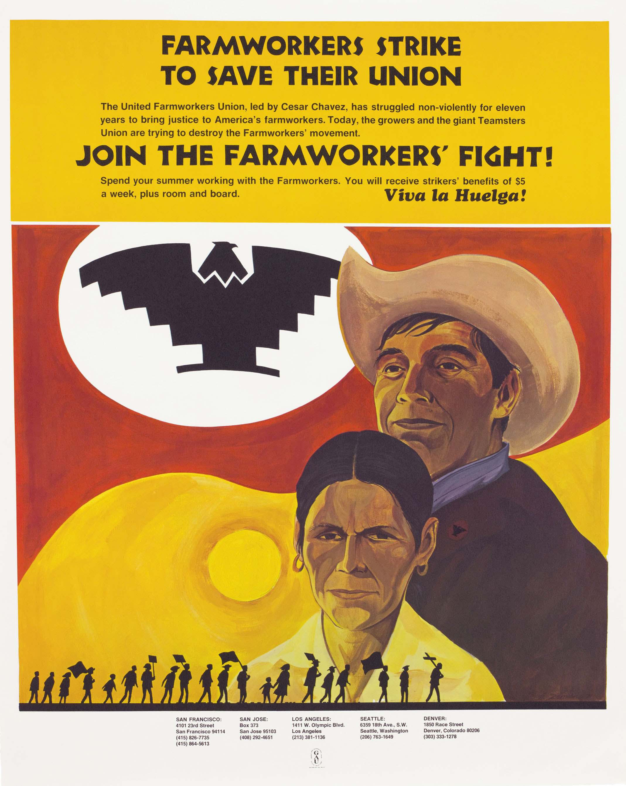 Farmworkers Strike to Save Their Union, by Andrew Zermeno, 1971