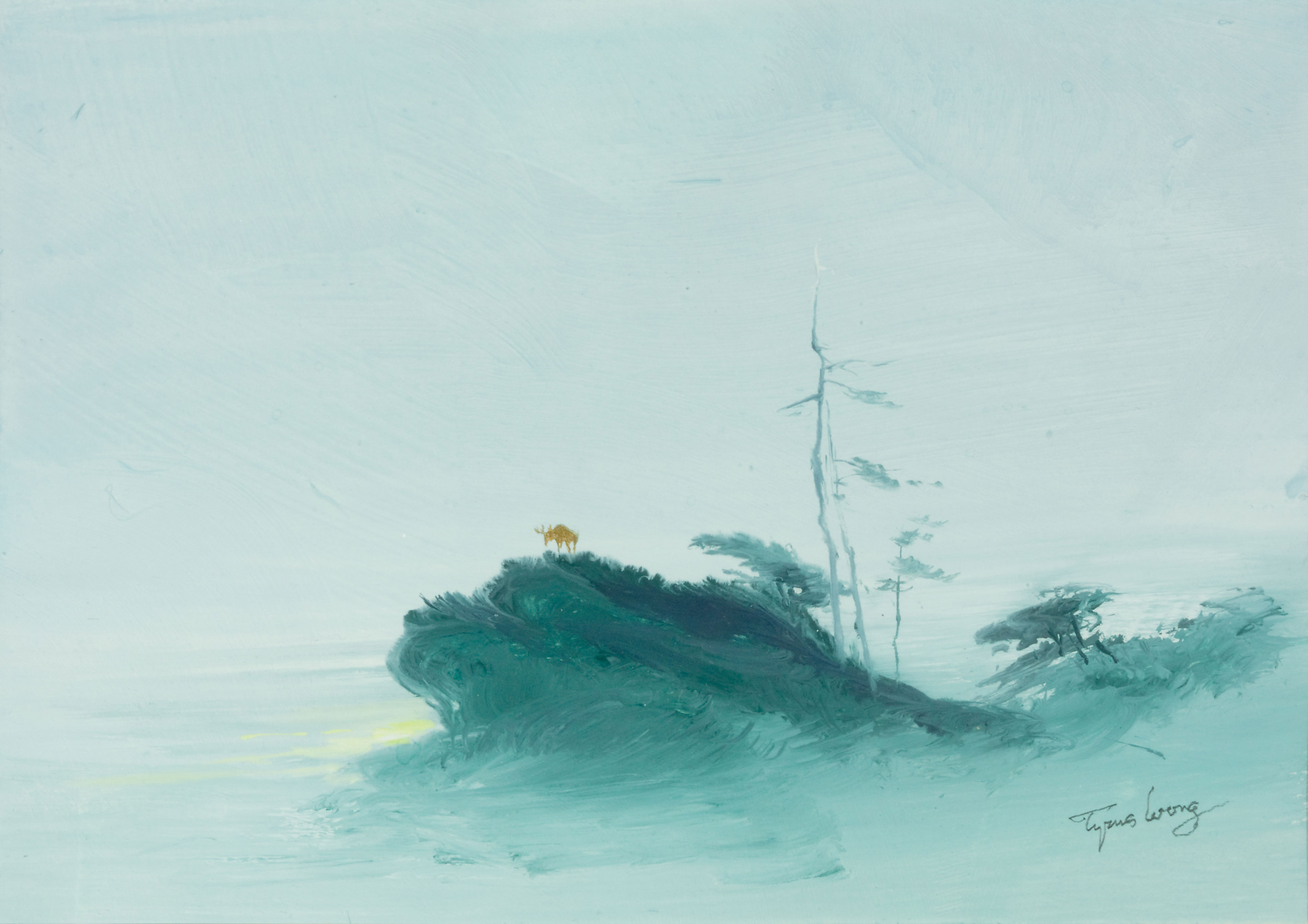 Deer on Cliff, by Tyrus Wong, 1960s