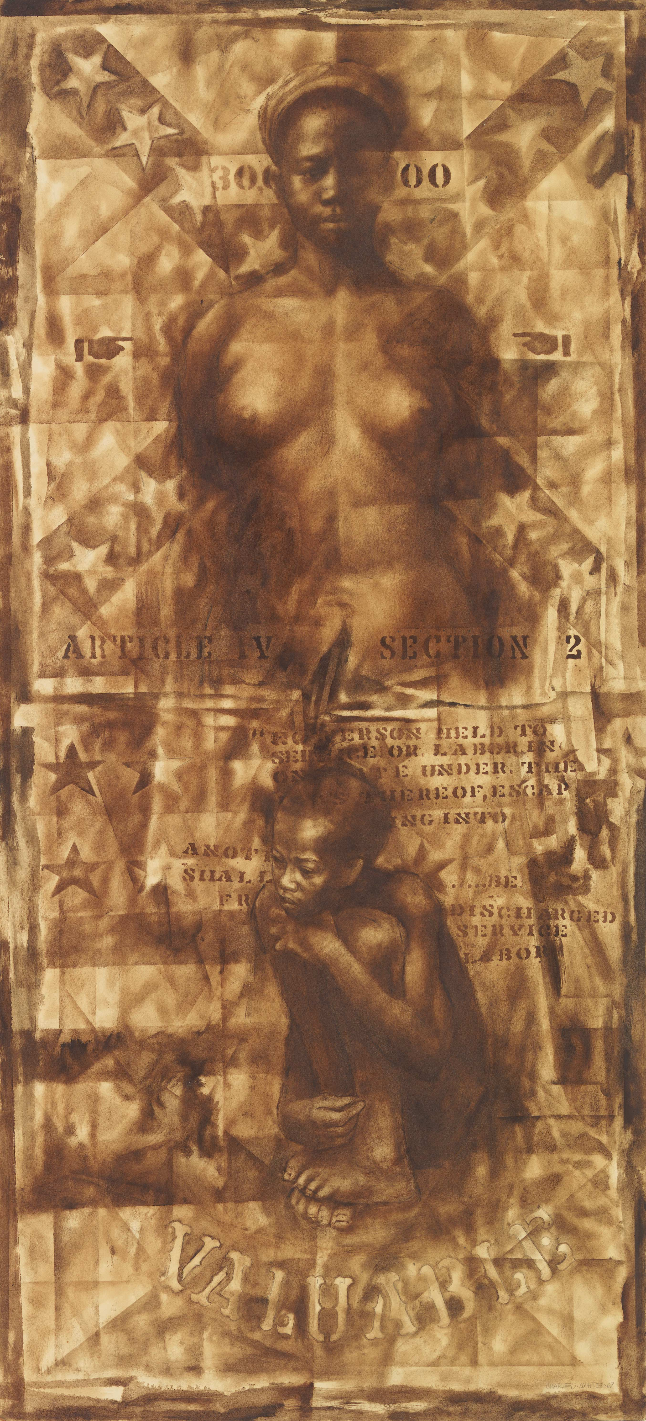 Wanted Poster #6, by Charles White, 1969