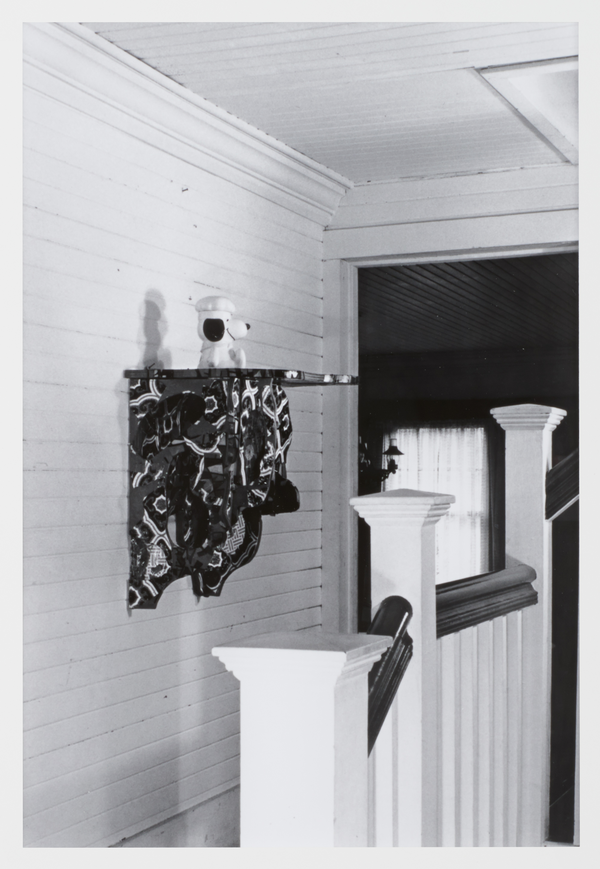 Shelf Arrangement for the Wachtel's Stairway, Hampton Bays, New York, by Haim Steinbach, 1982