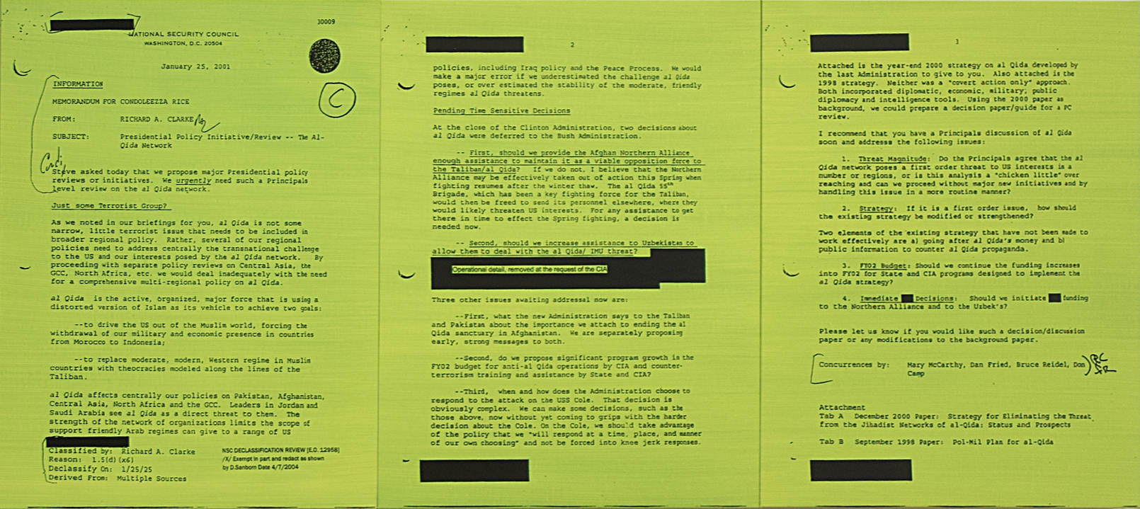 MEMORANDUM FOR CONDOLEEZZA RICE GREEN, by Jenny Holzer, 2006